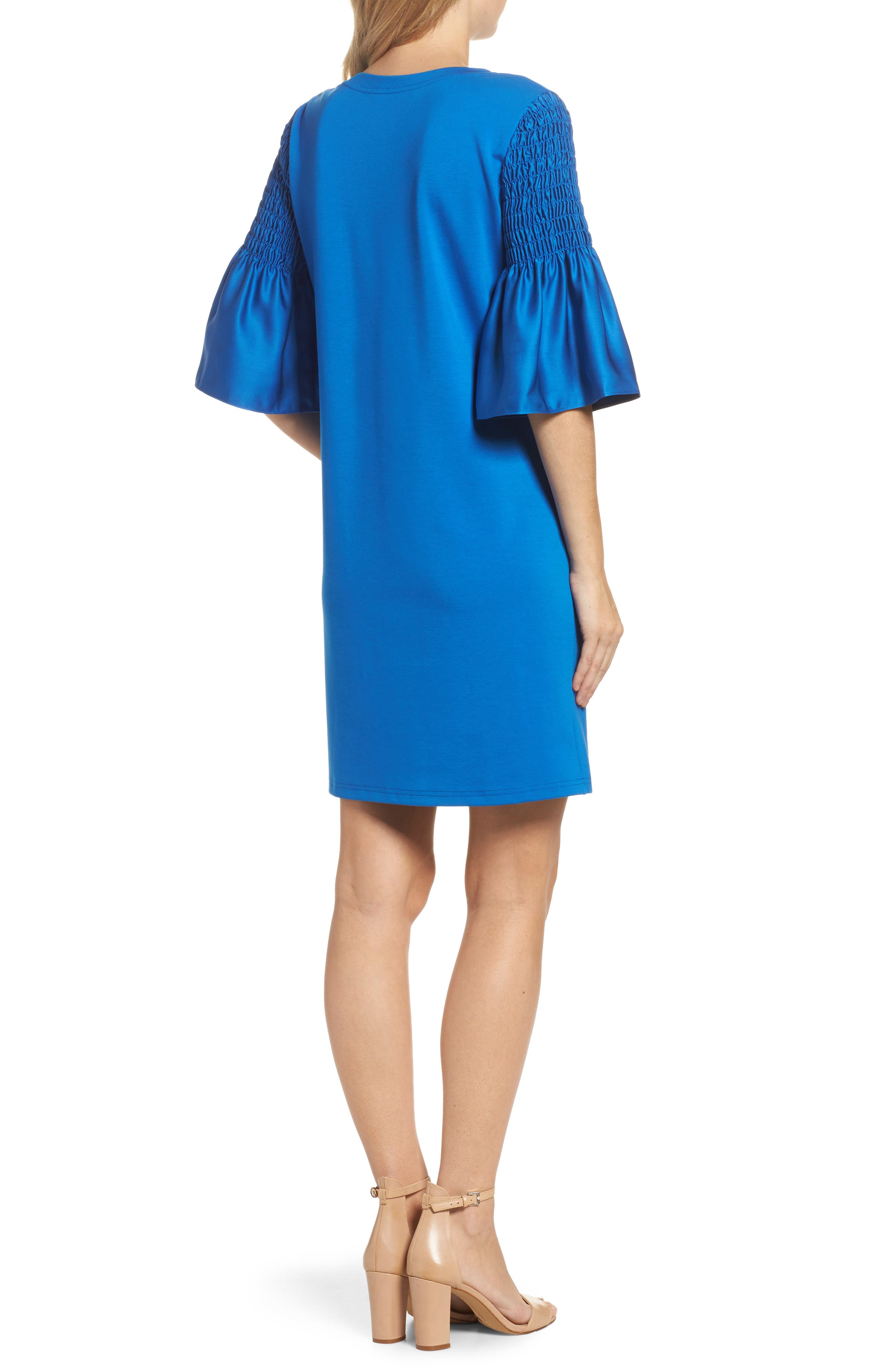 Suzette Shift Dress,                             Alternate thumbnail 2, color,                             Cobalt
