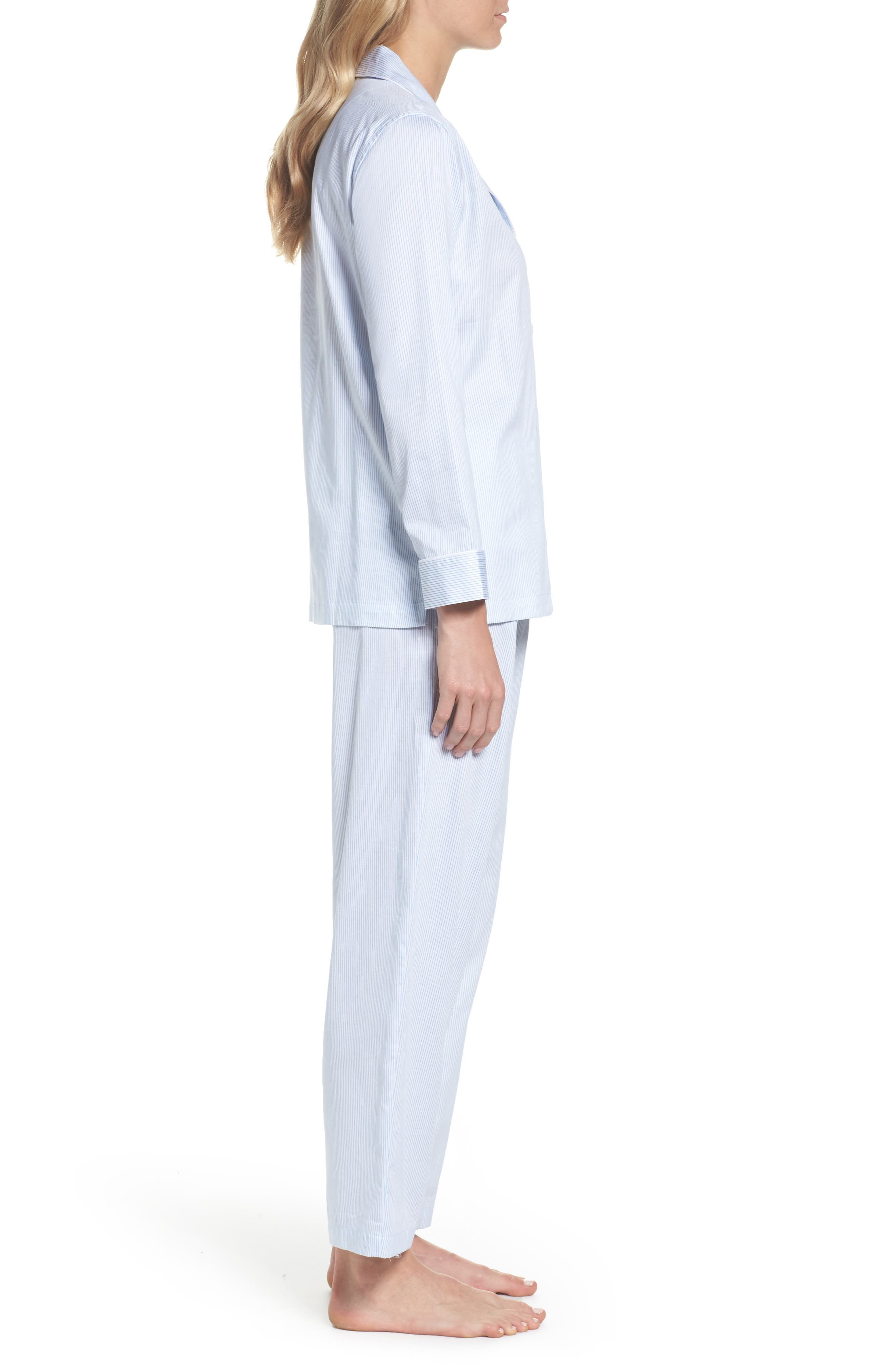 Alternate Image 3  - Lauren Ralph Lauren Stripe Sateen Pajamas