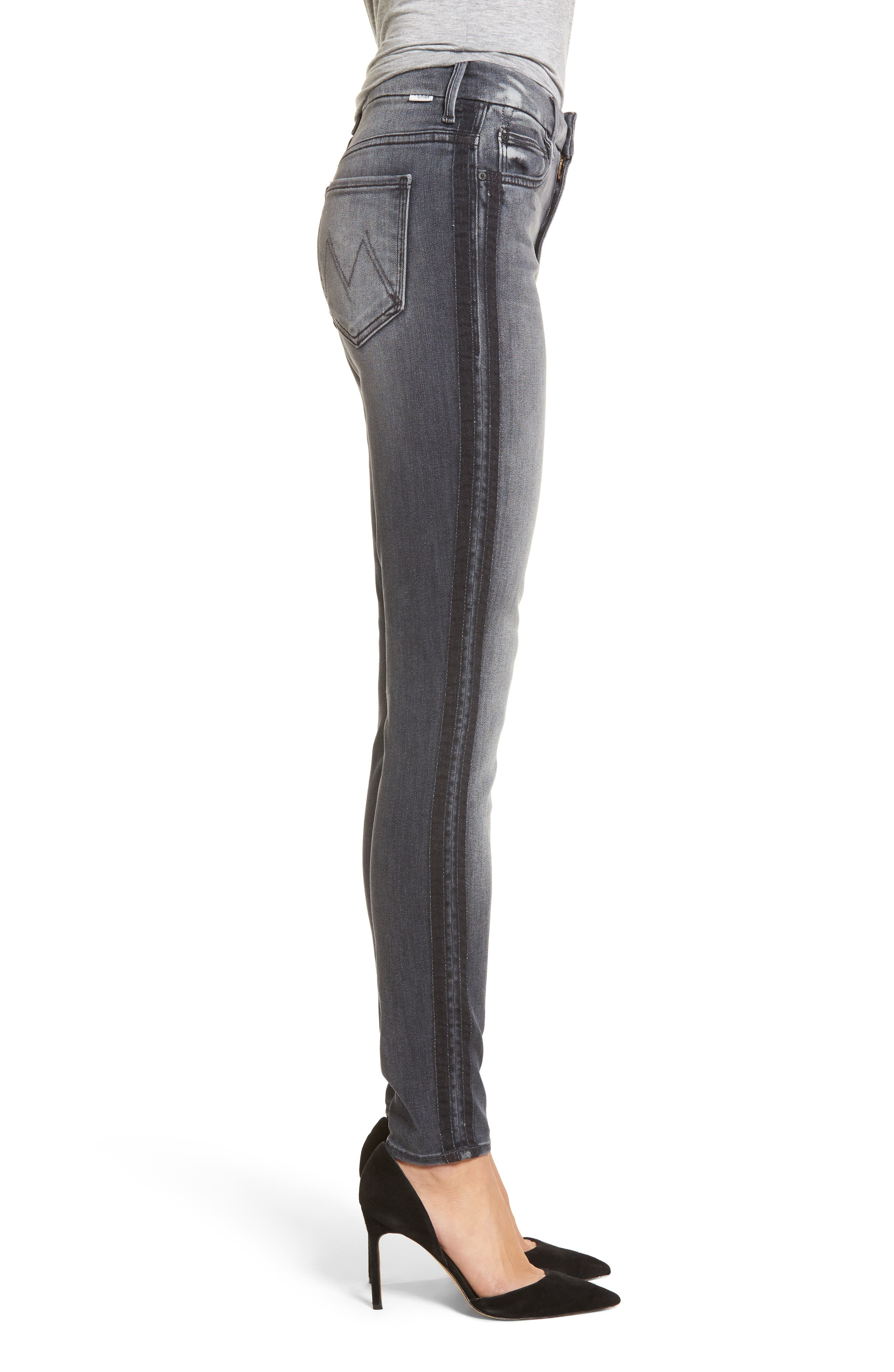 The Looker High Waist Skinny Jeans,                             Alternate thumbnail 3, color,                             Miss Moody Two Shoes Racer