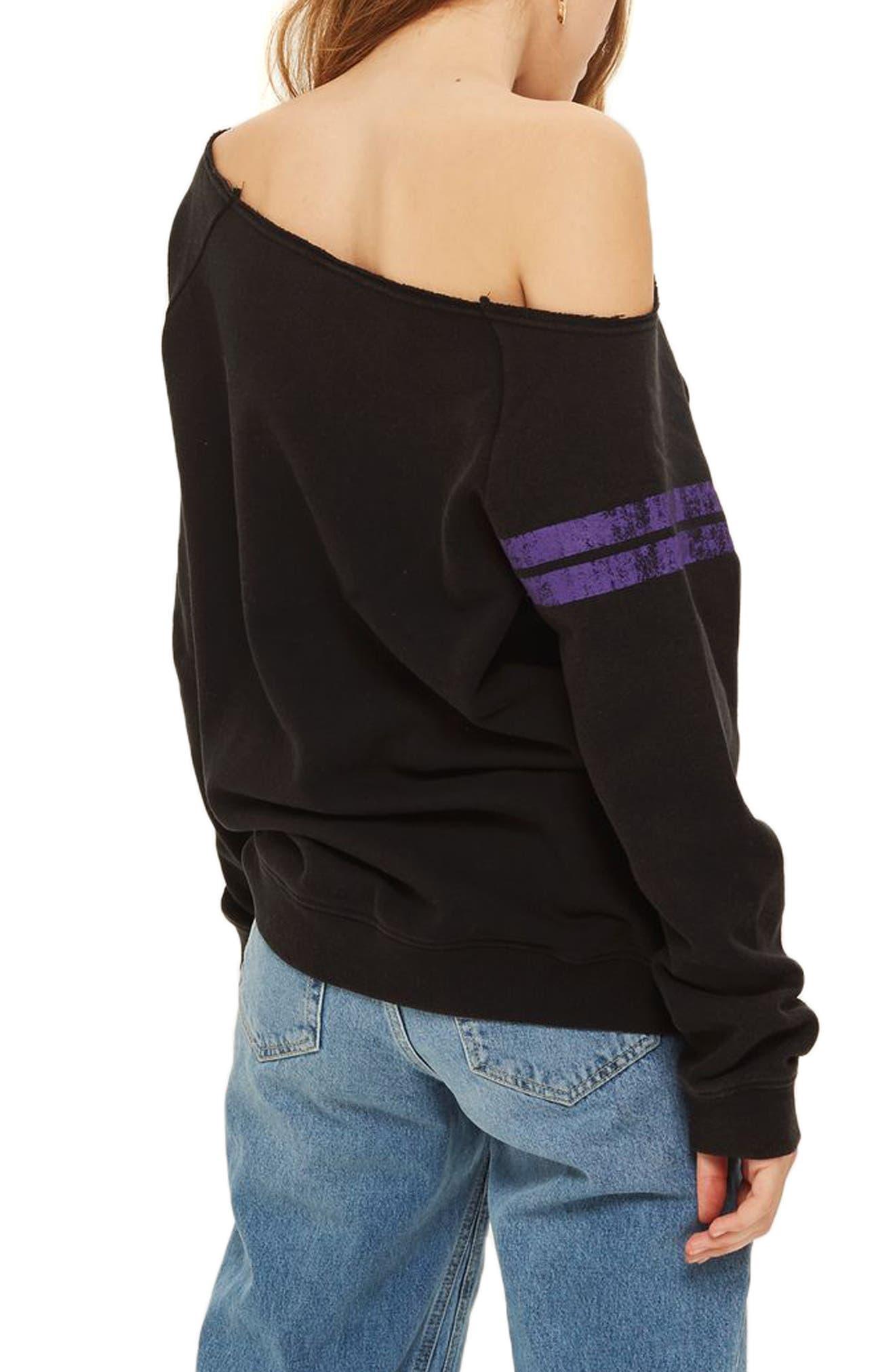 x UNK Lakers Convertible Sweatshirt,                             Alternate thumbnail 3, color,                             Black Multi