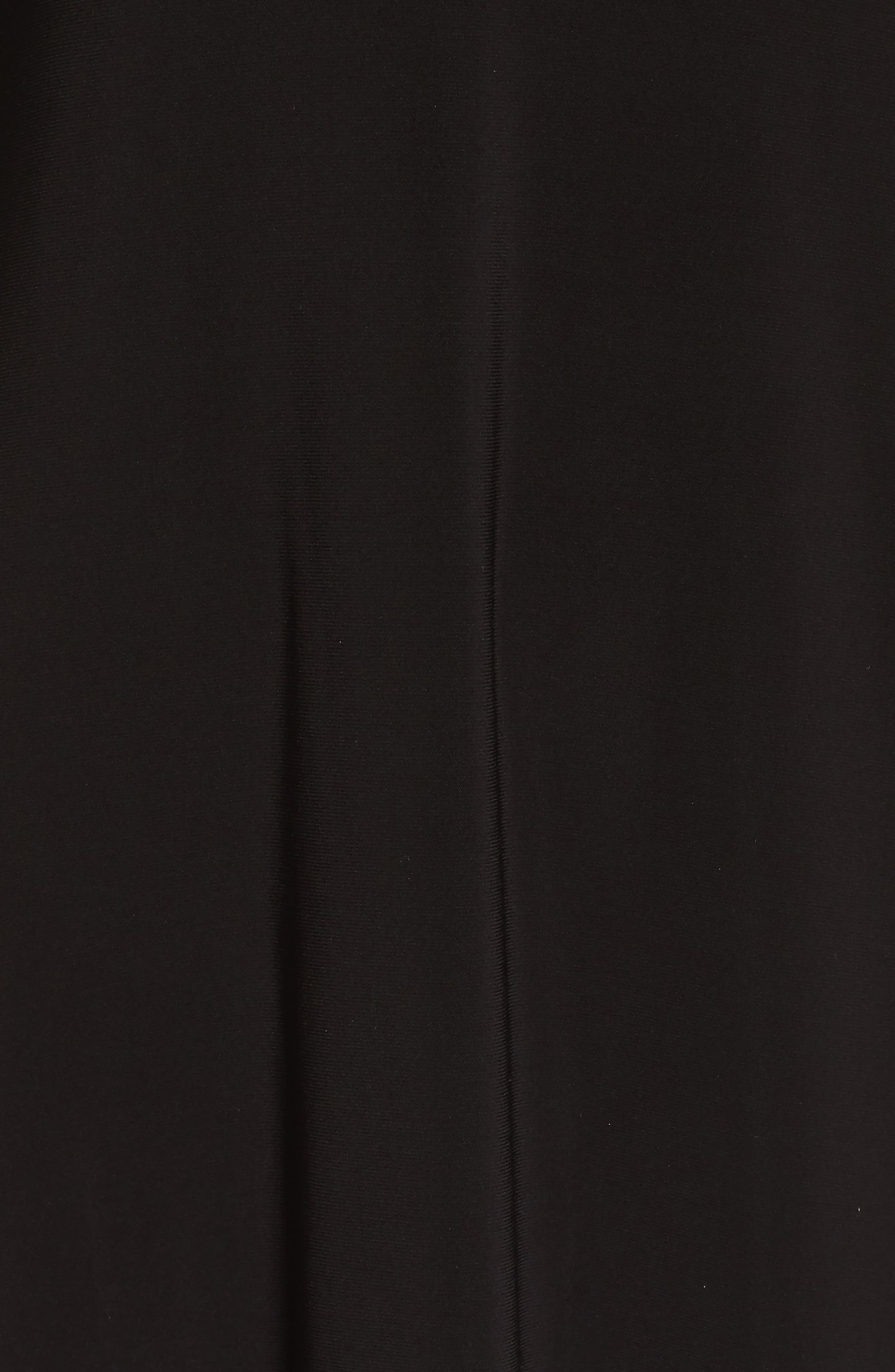 Tiered Sleeve Trapeze Dress,                             Alternate thumbnail 5, color,                             Black Multi