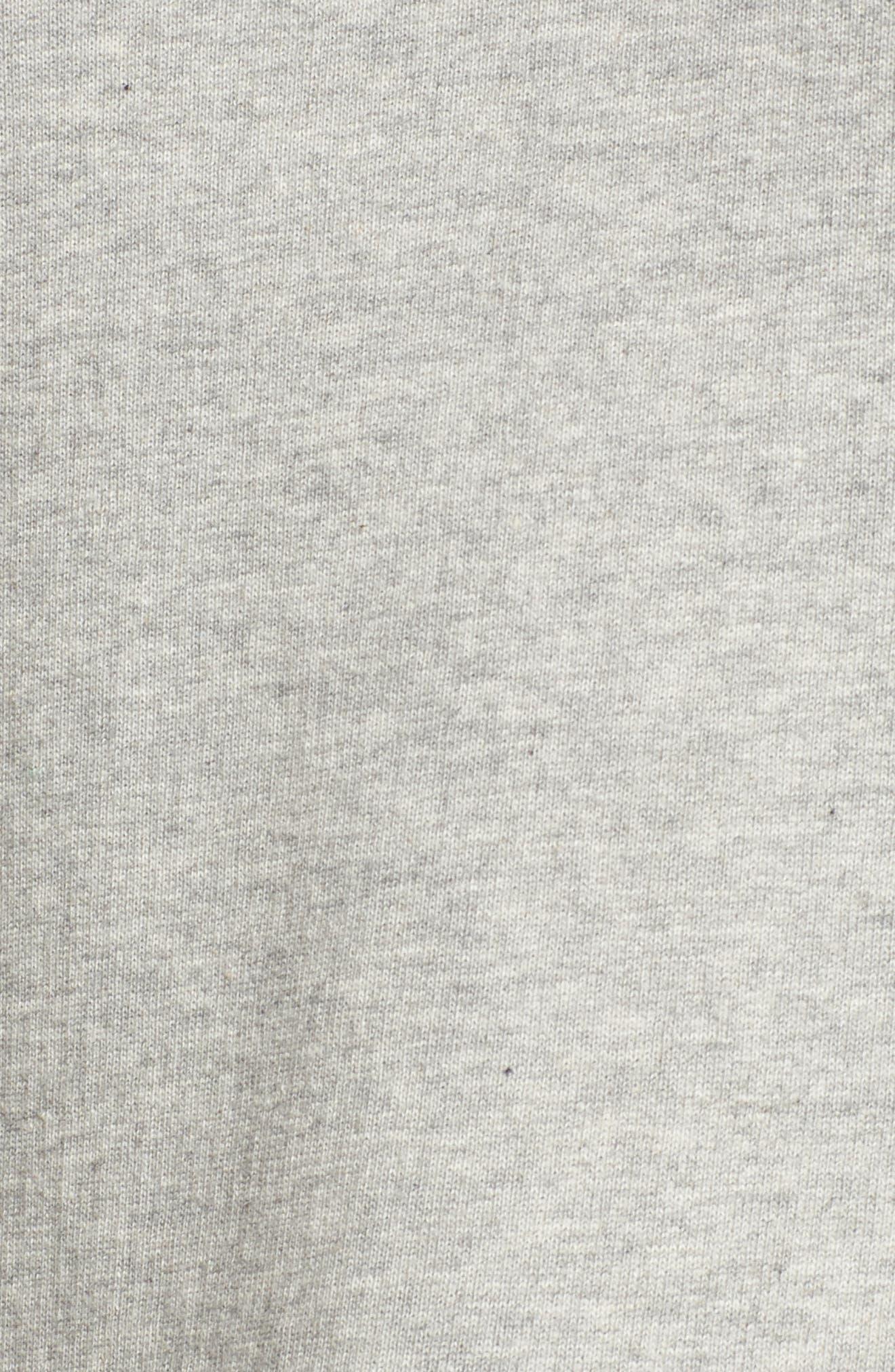 Ruffle Trim Sweatshirt,                             Alternate thumbnail 5, color,                             Heather Grey