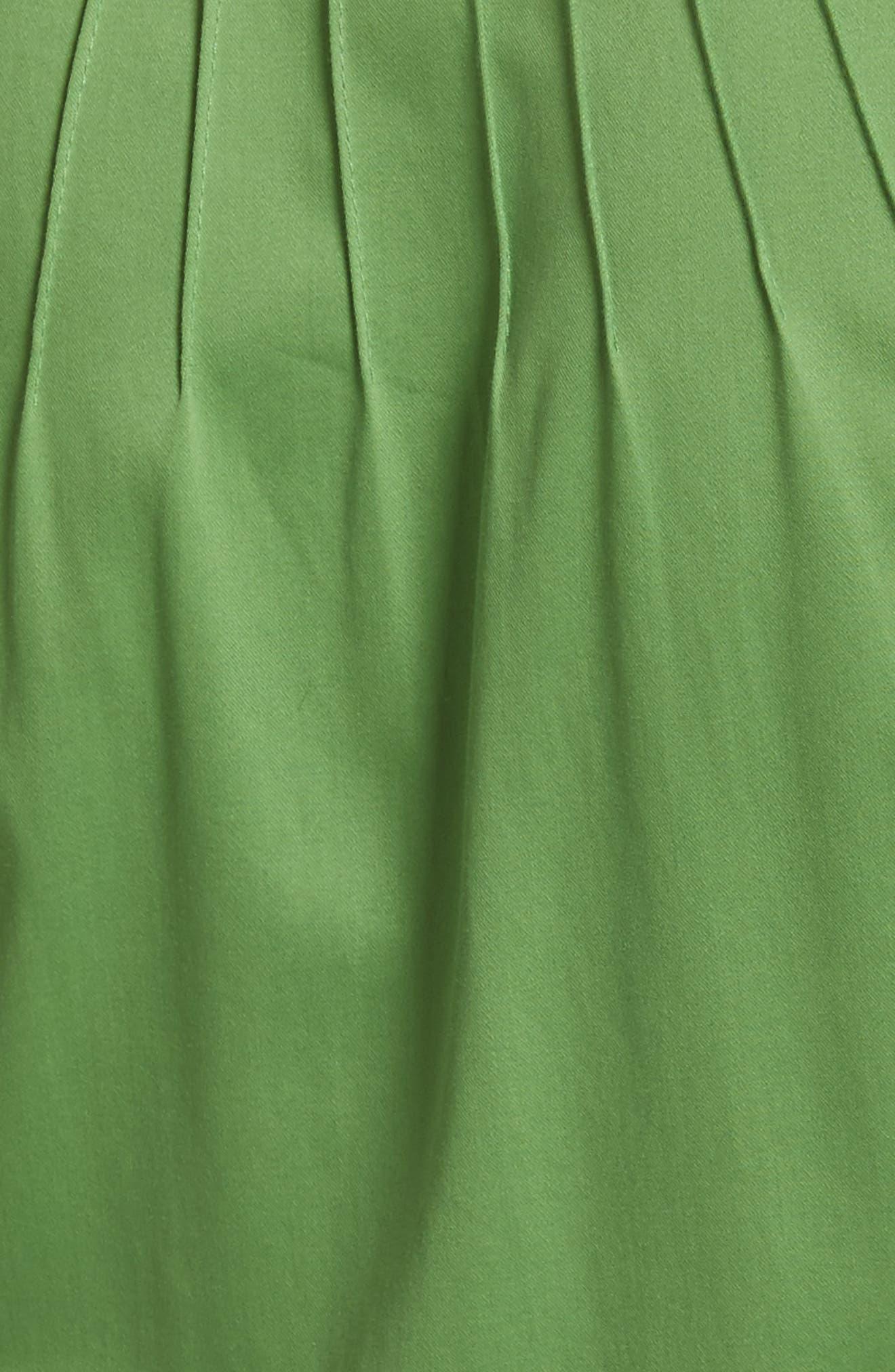Diane von Furstenberg Pintuck Dress,                             Alternate thumbnail 5, color,                             Grass