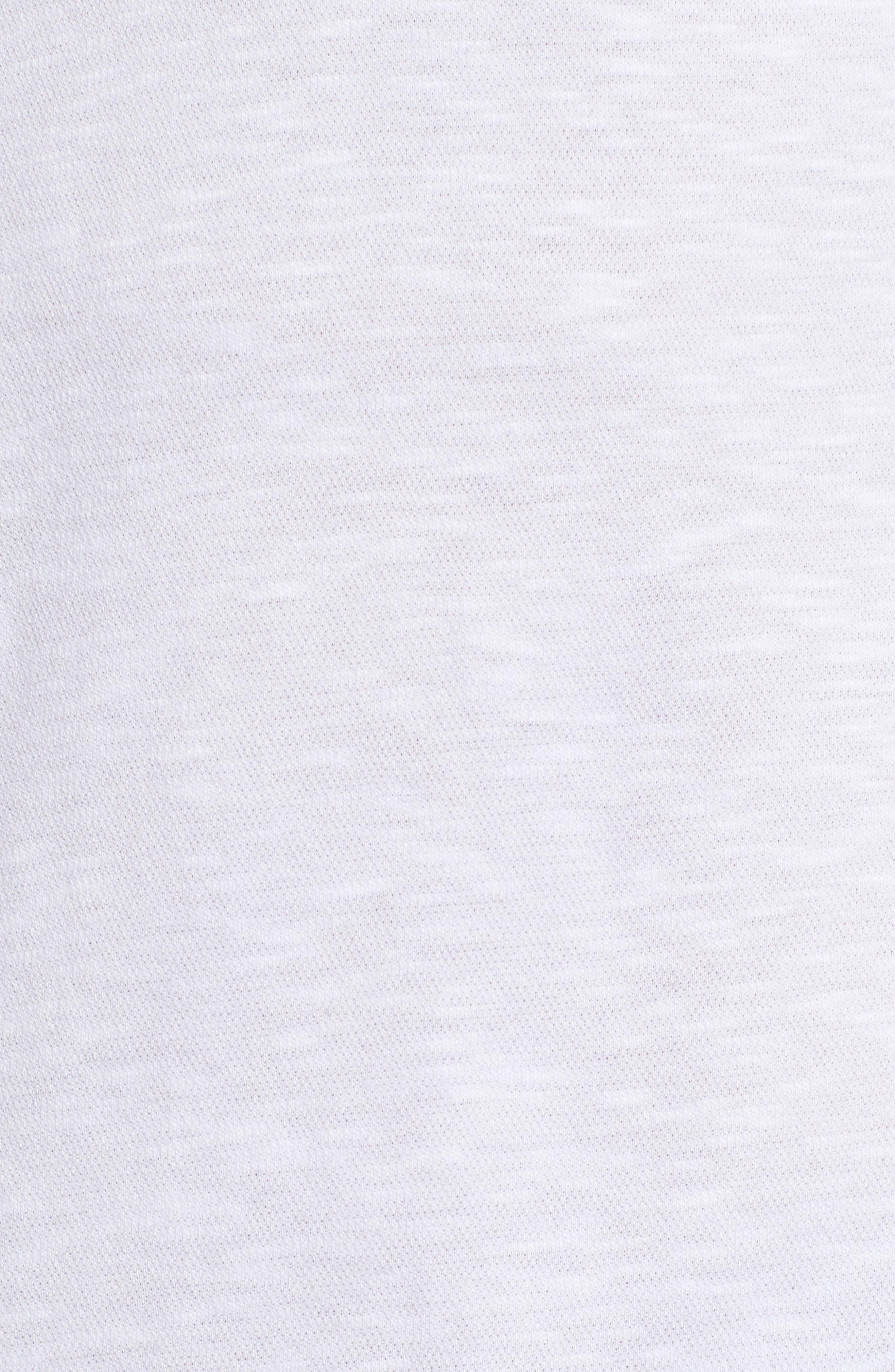 Slub Knit Sport Shirt,                             Alternate thumbnail 5, color,                             White