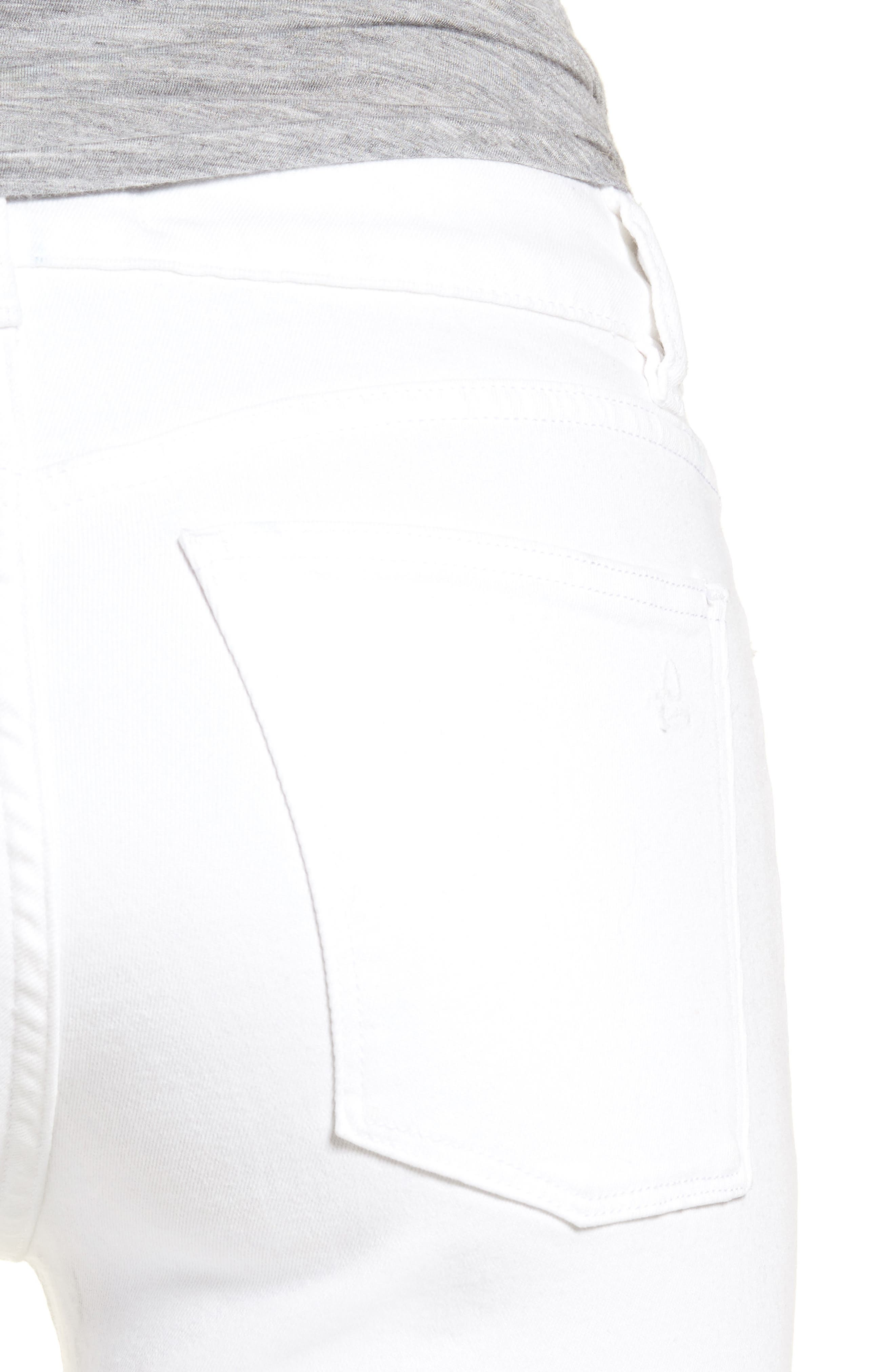 Margaux Instasculpt Ankle Skinny Jeans,                             Alternate thumbnail 4, color,                             Catalina