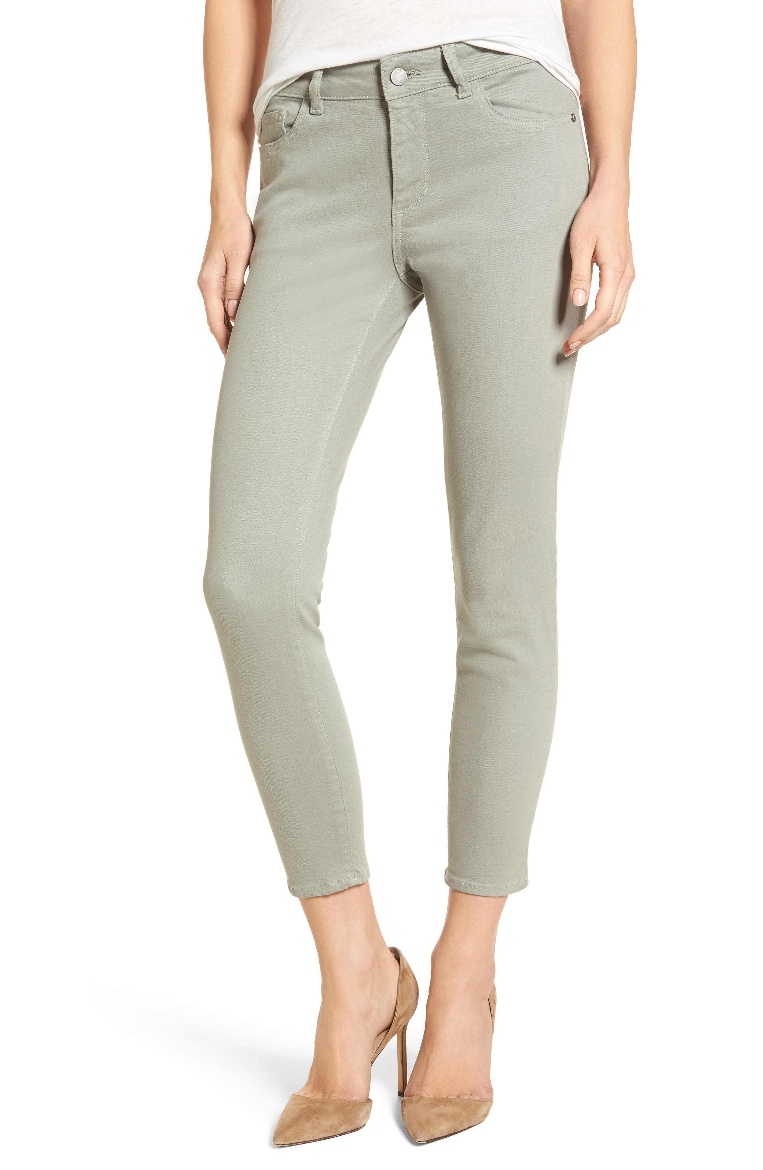 Florence Instasculpt Crop Skinny Jeans,                             Main thumbnail 1, color,                             Grove