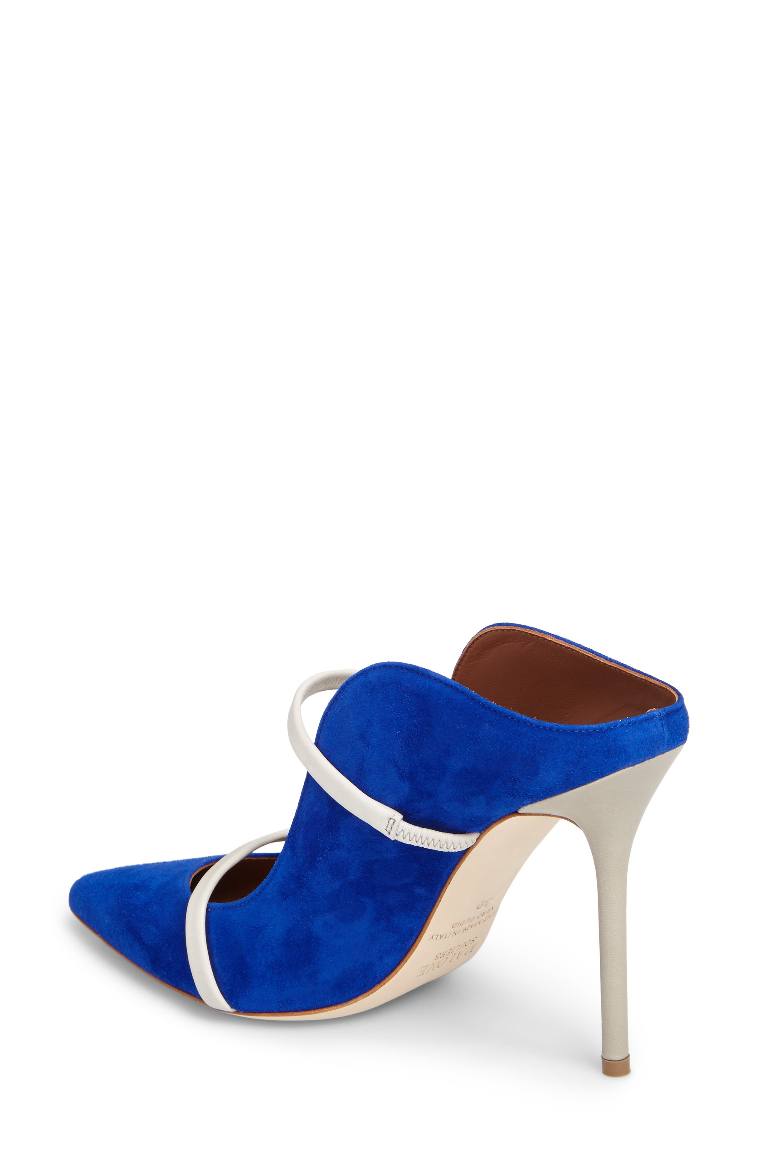 Maureen Double Band Mule,                             Alternate thumbnail 2, color,                             Electric Blue/ Foam/ Grey