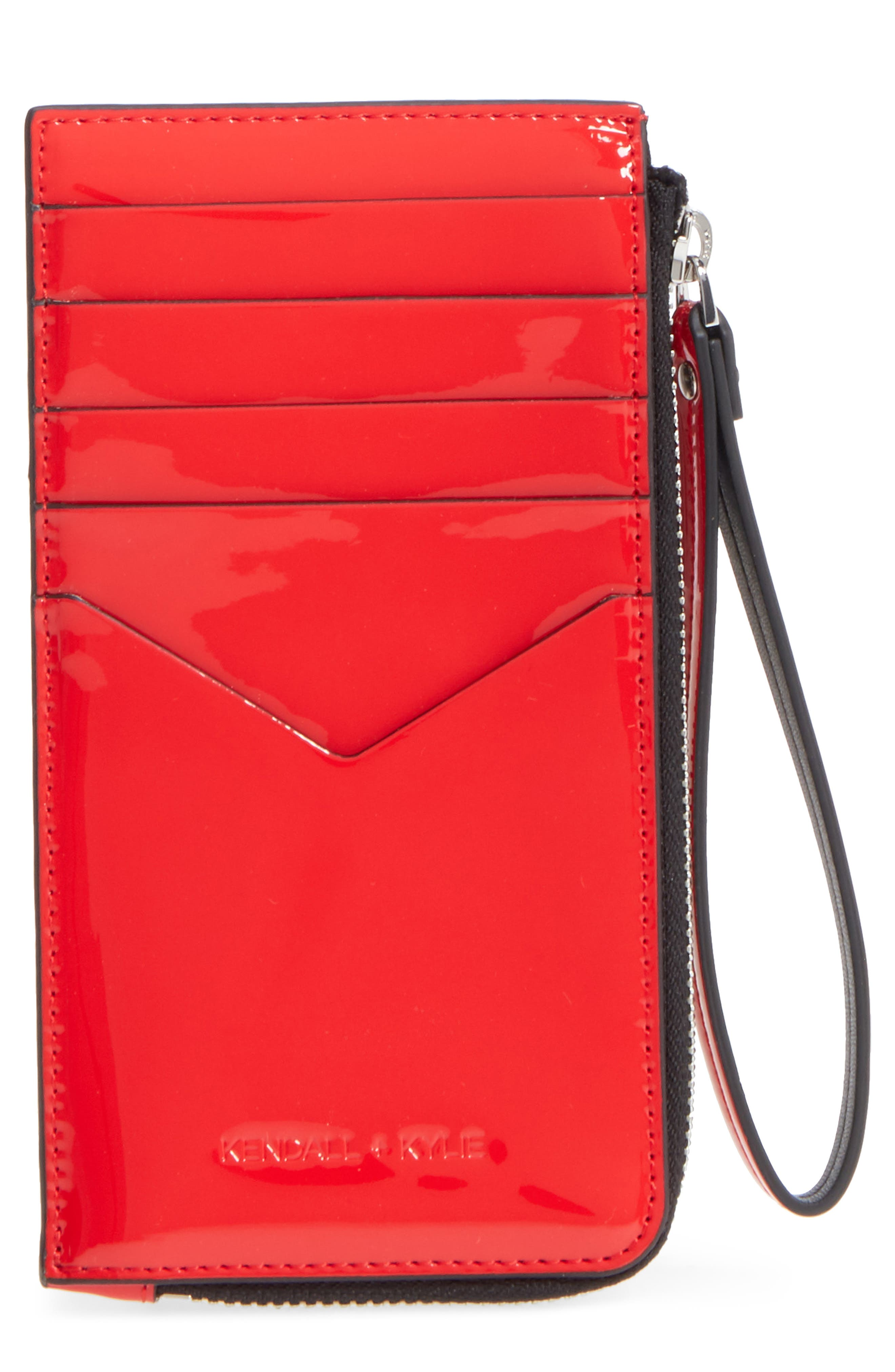 Skye Card Case,                             Main thumbnail 1, color,                             Fiery Red