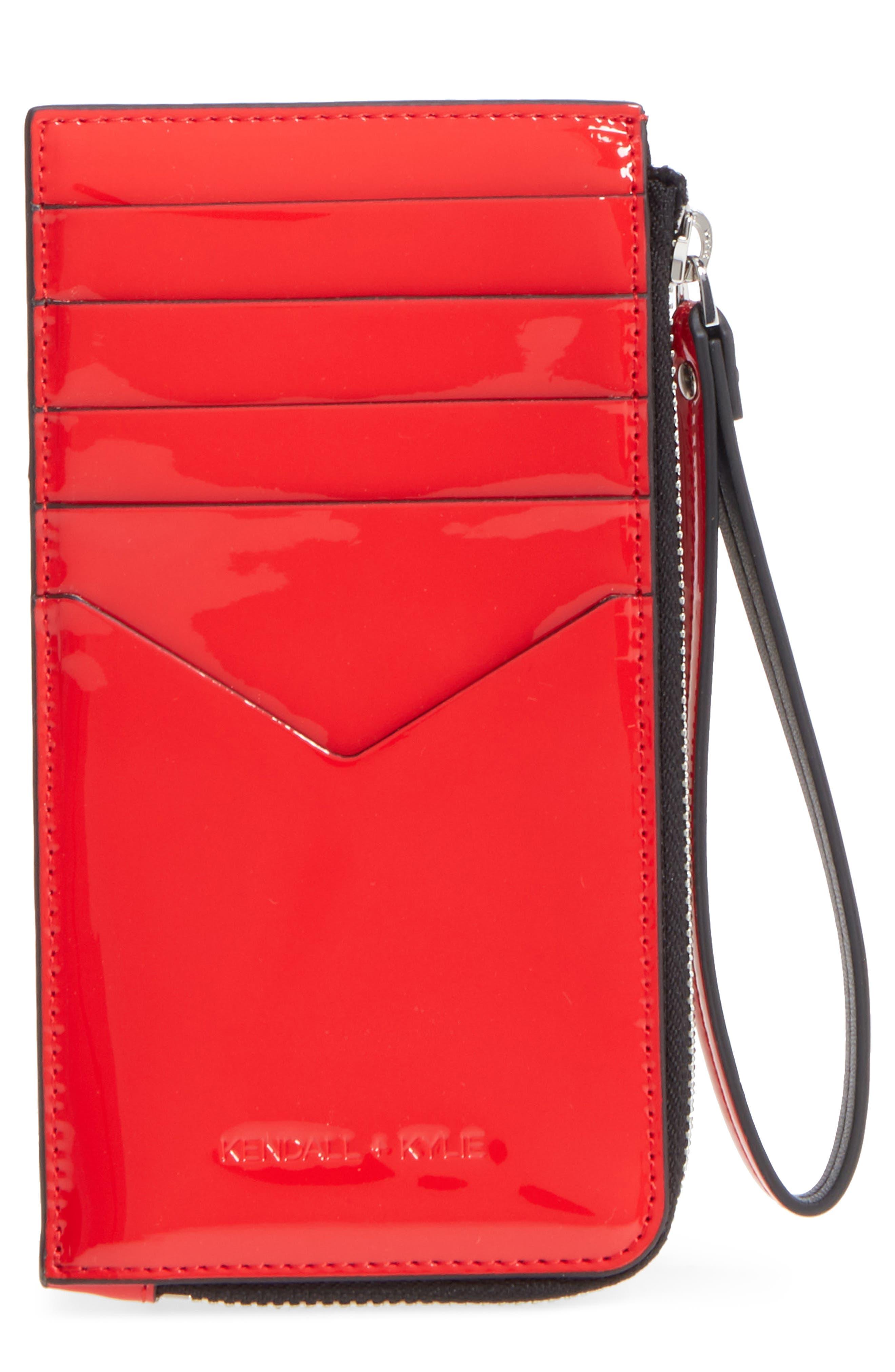 Skye Card Case,                         Main,                         color, Fiery Red