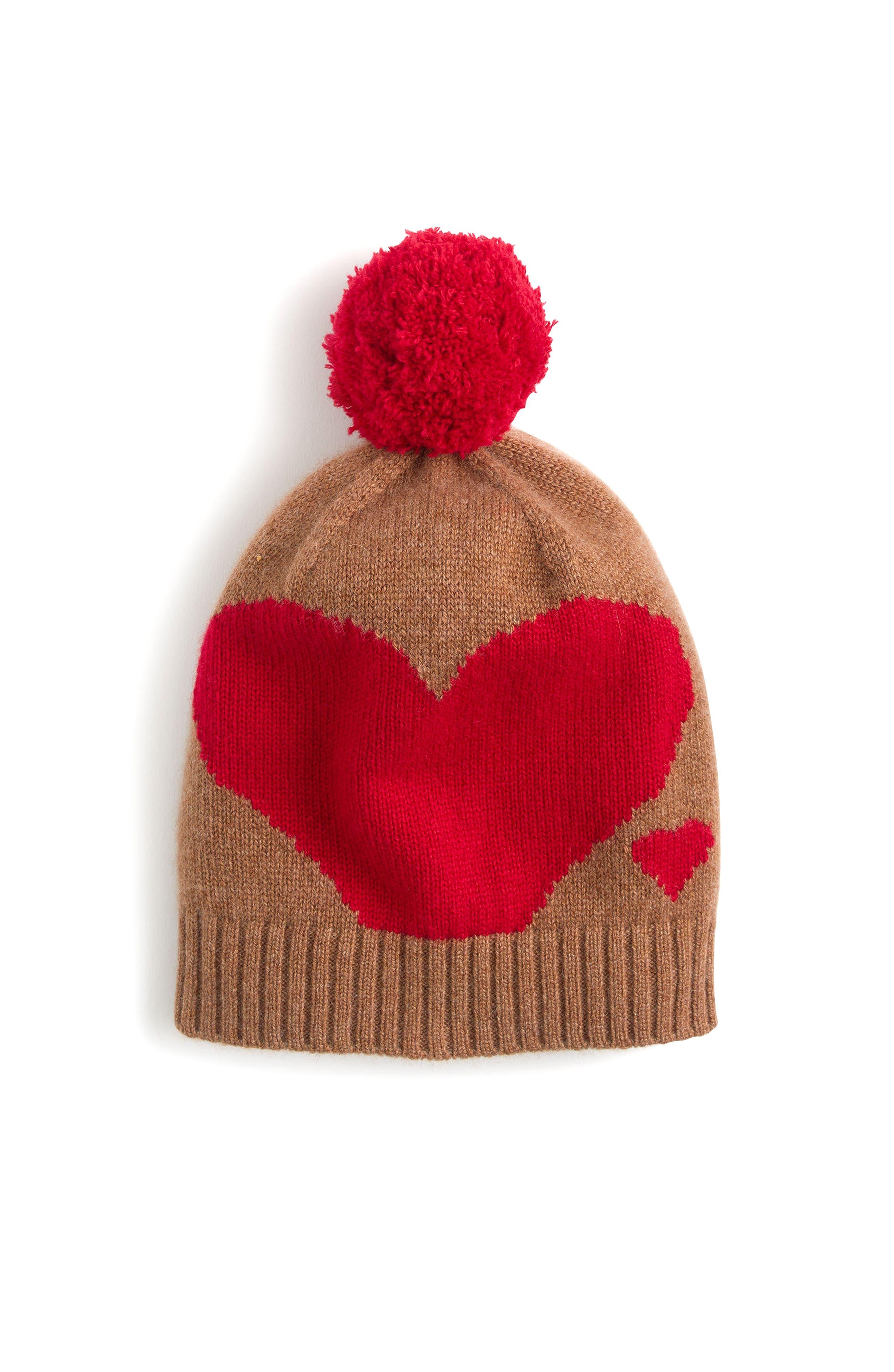 J.Crew Cashmere Heart Beanie