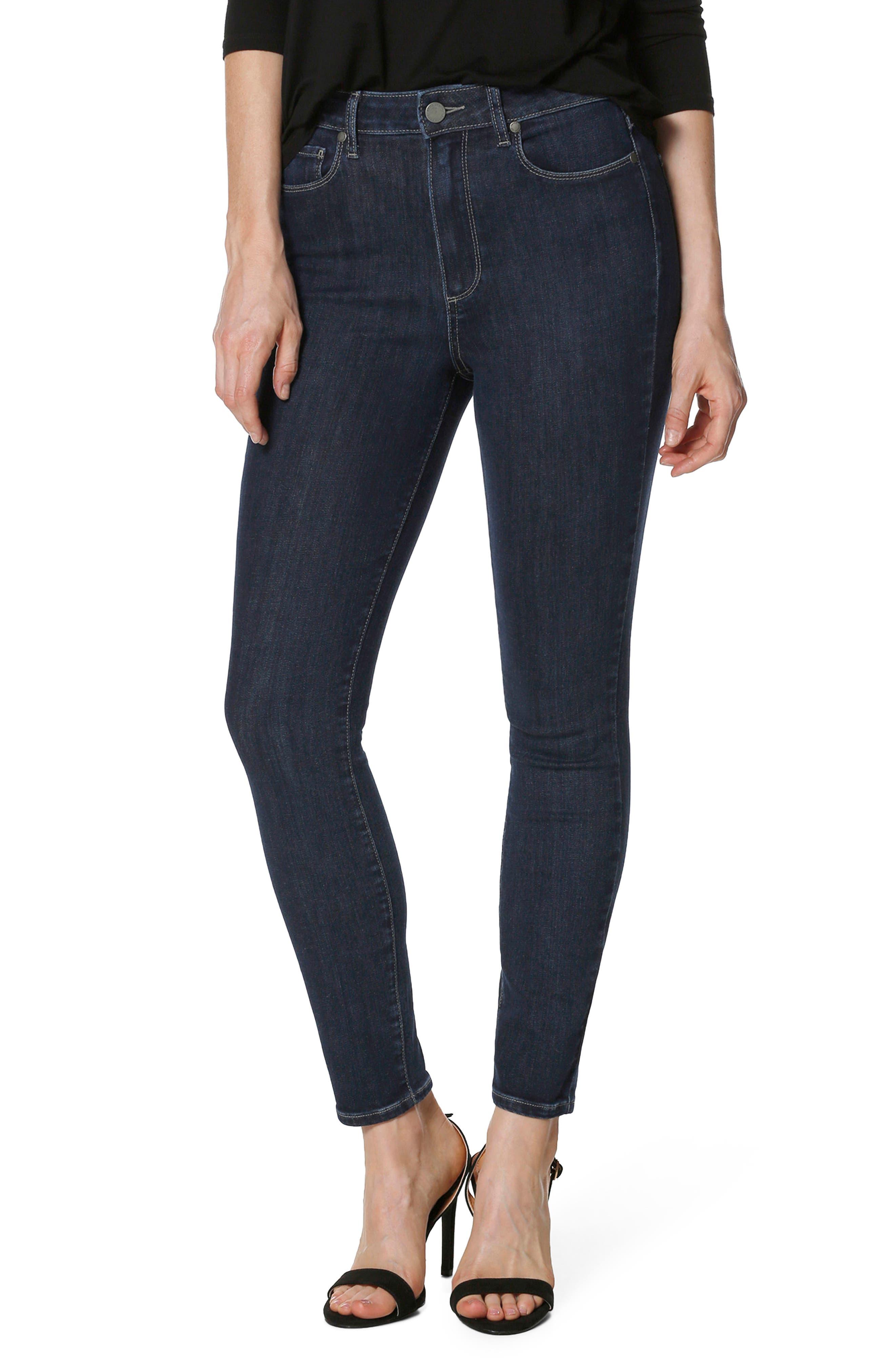 Transcend Vintage - Margot High Waist Ankle Ultra Skinny Jeans,                         Main,                         color, Regal
