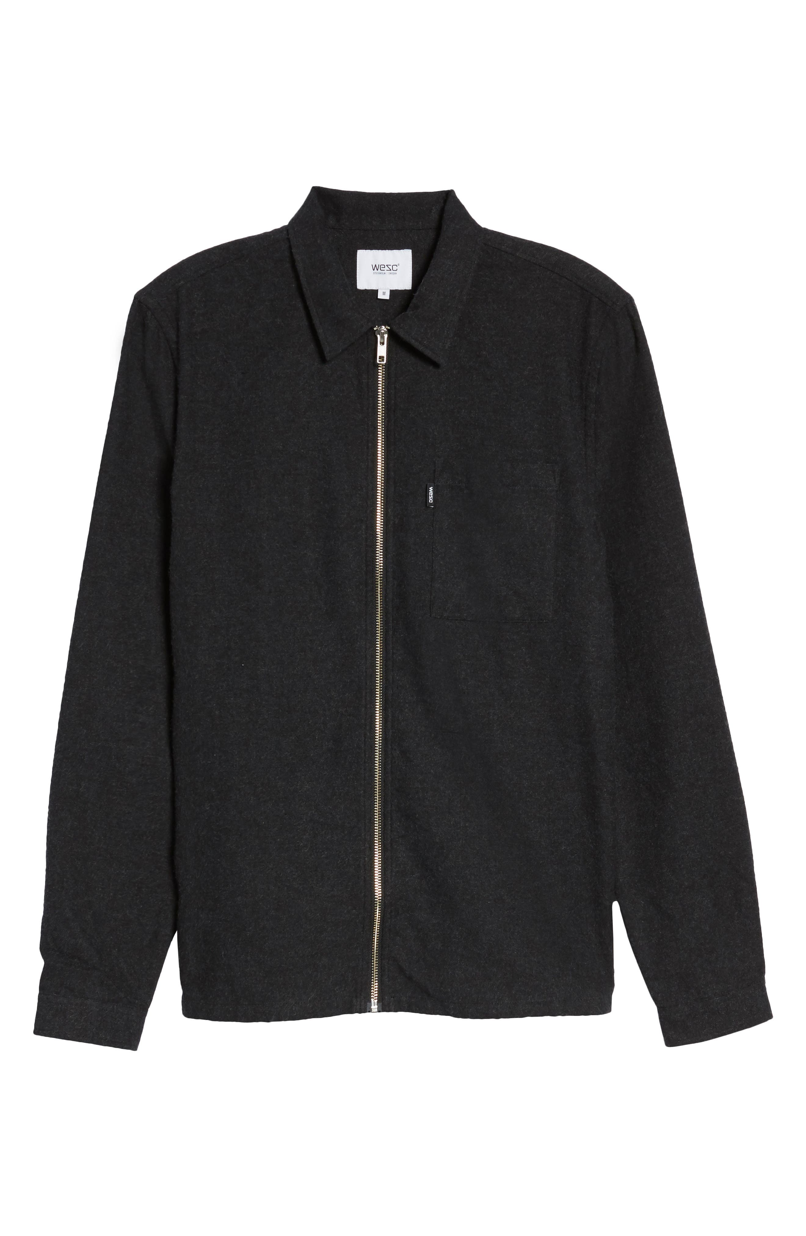 Alternate Image 6  - WeSC Nicks Flannel Zip Overshirt