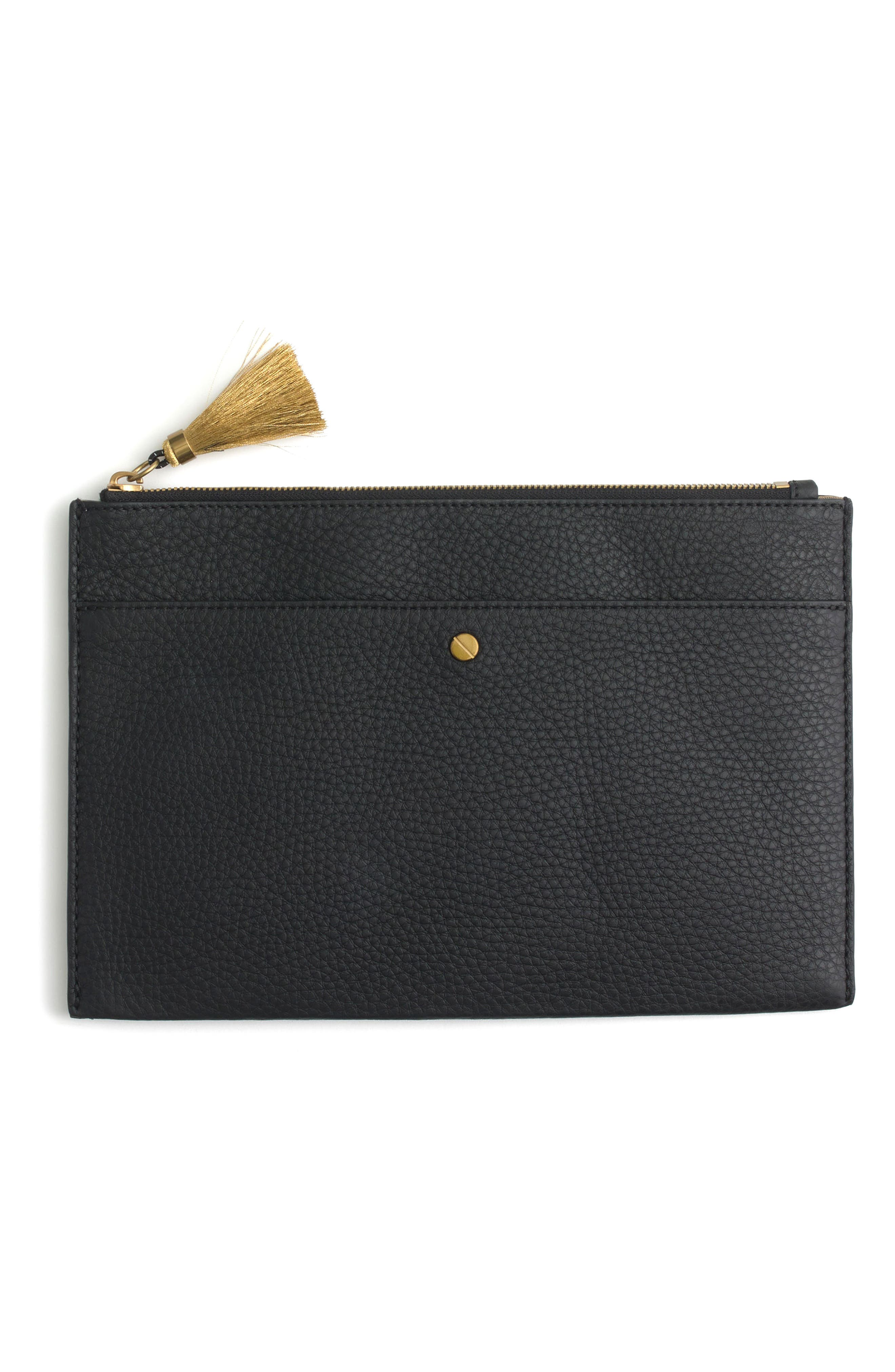 Alternate Image 1 Selected - J.Crew Large Signet Pouch