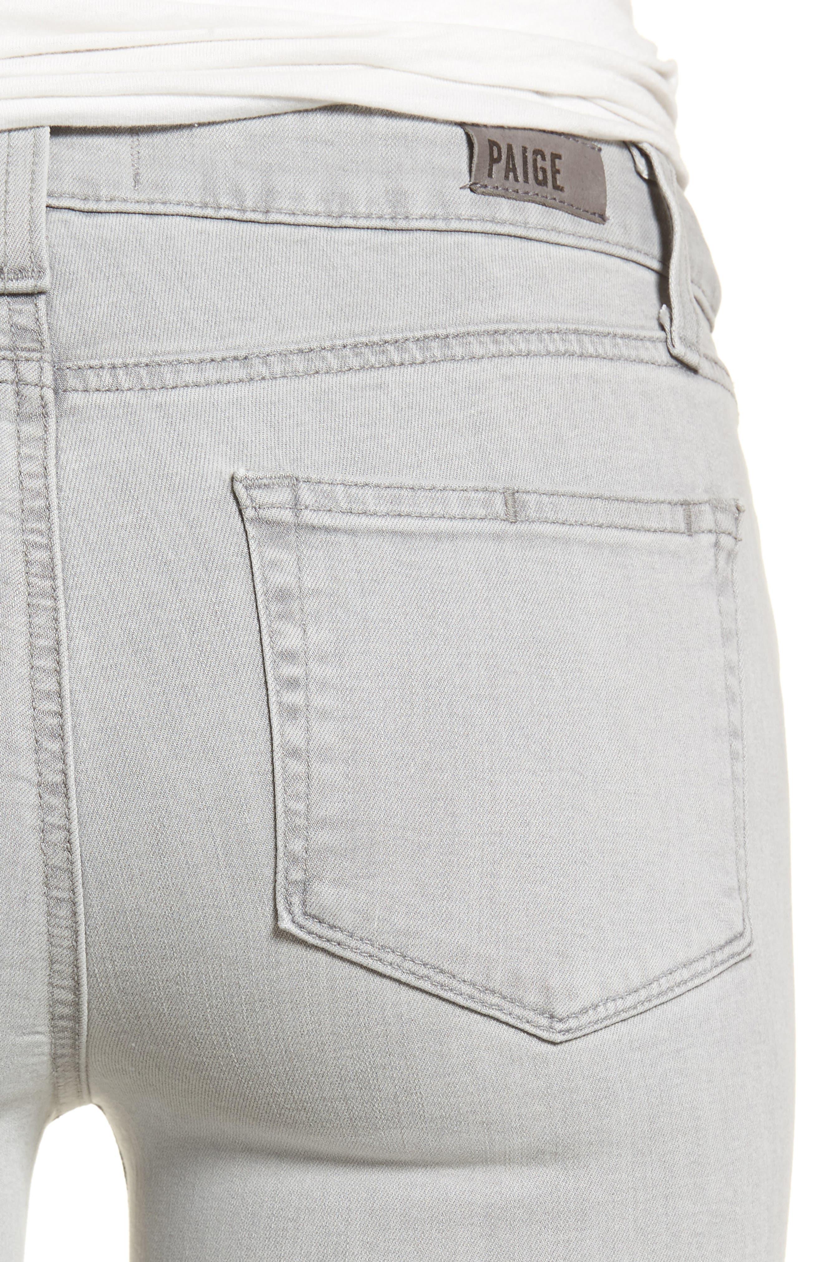 Transcend - Verdugo Ultra Skinny Jeans,                             Alternate thumbnail 4, color,                             Whisper Grey