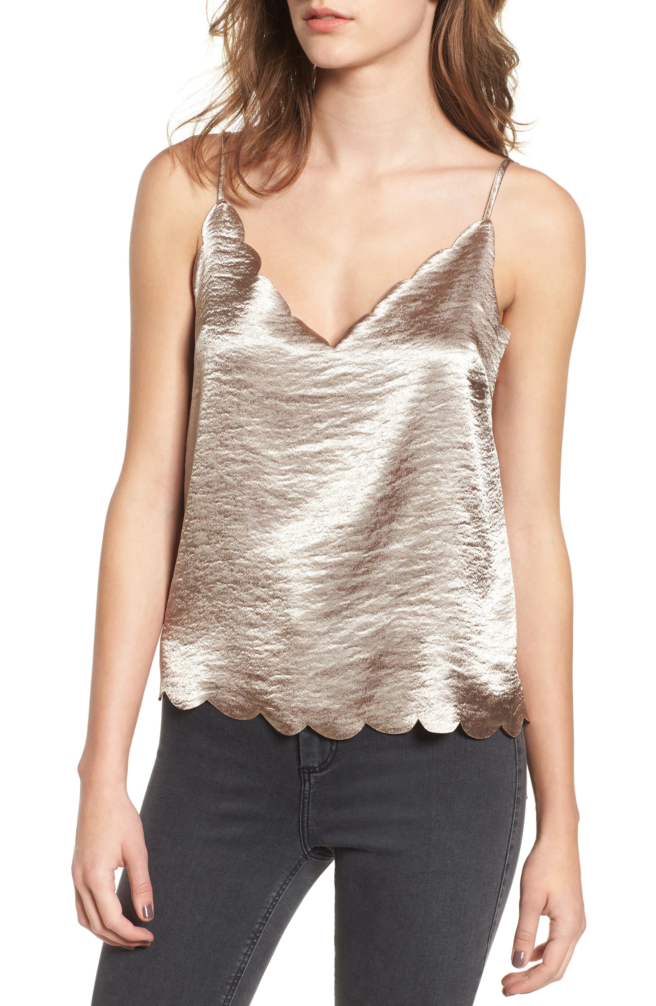 Alternate Image 1 Selected - BP. Scallop Edge Camisole