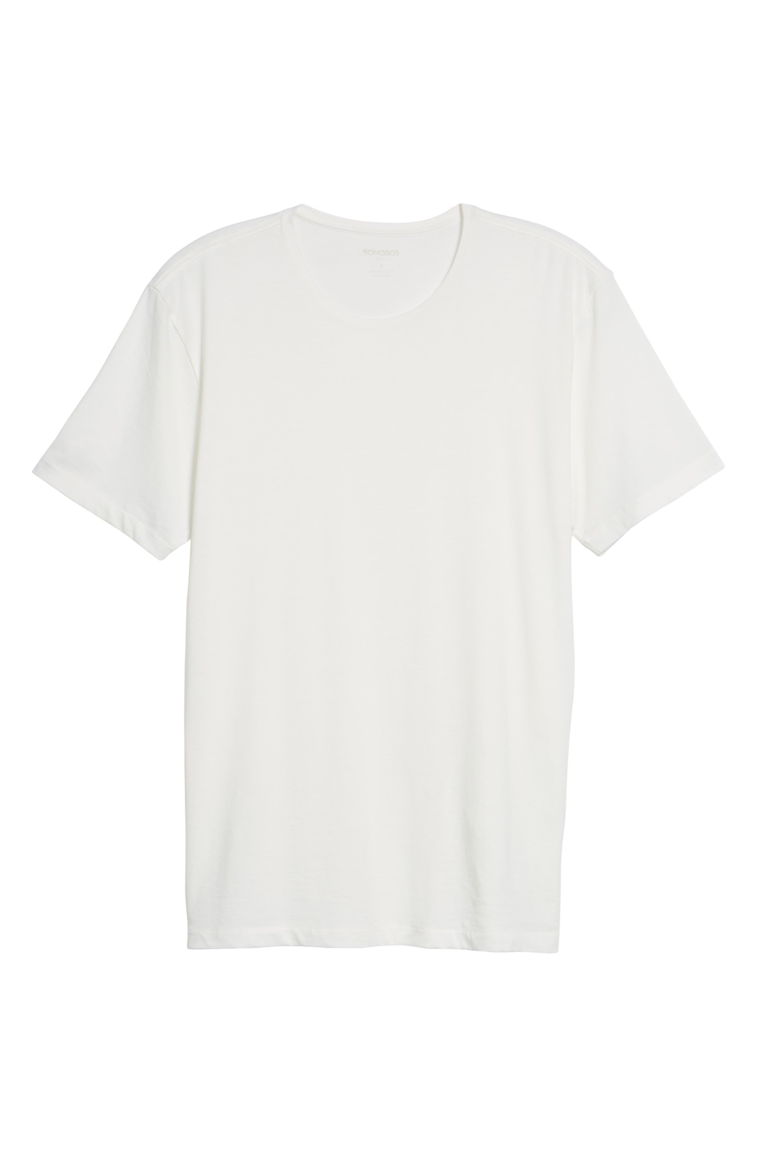 Refined T-Shirt,                             Alternate thumbnail 6, color,                             White