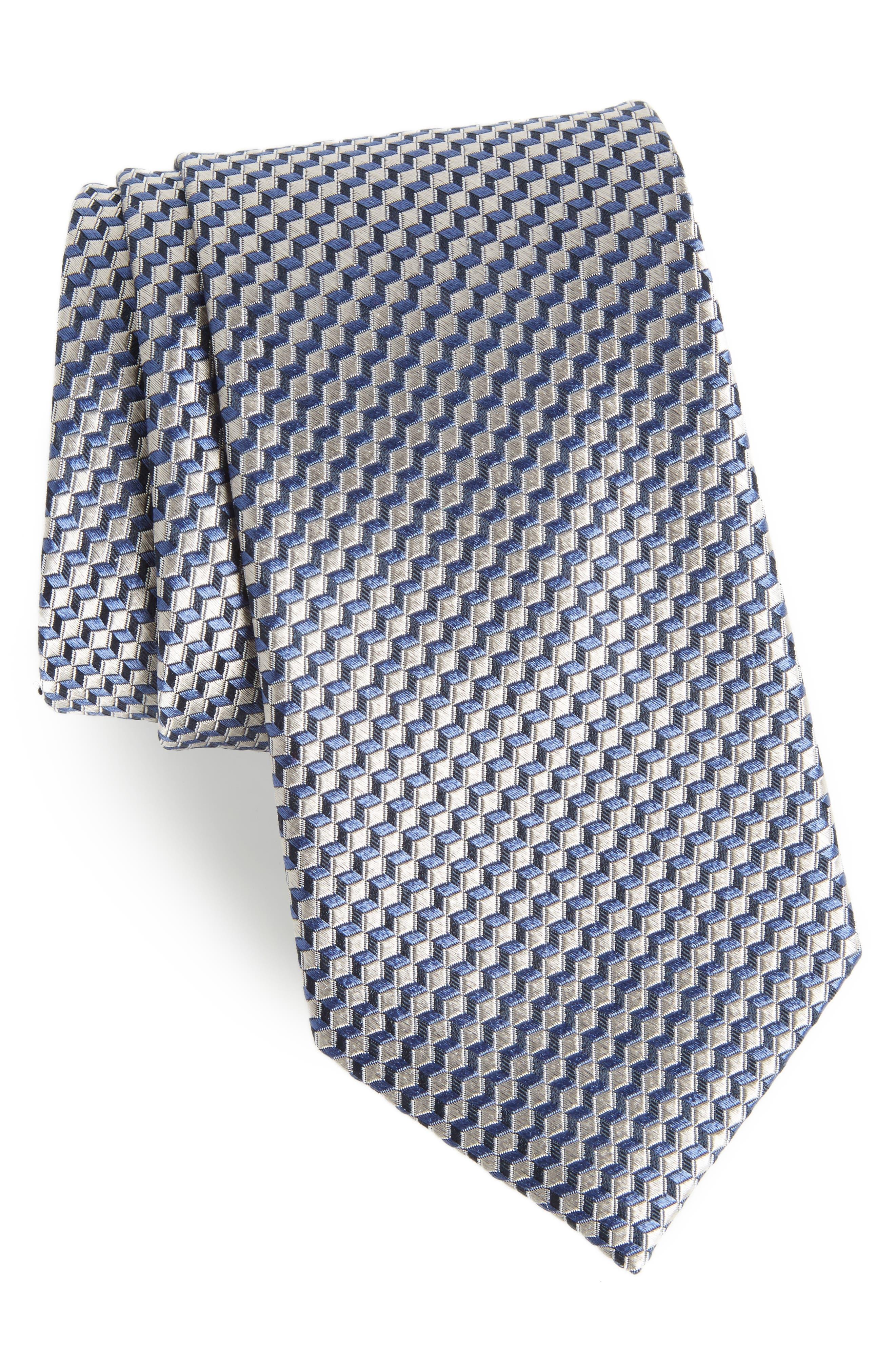 Nordstrom Men's Shop Doria Geometric Silk Tie