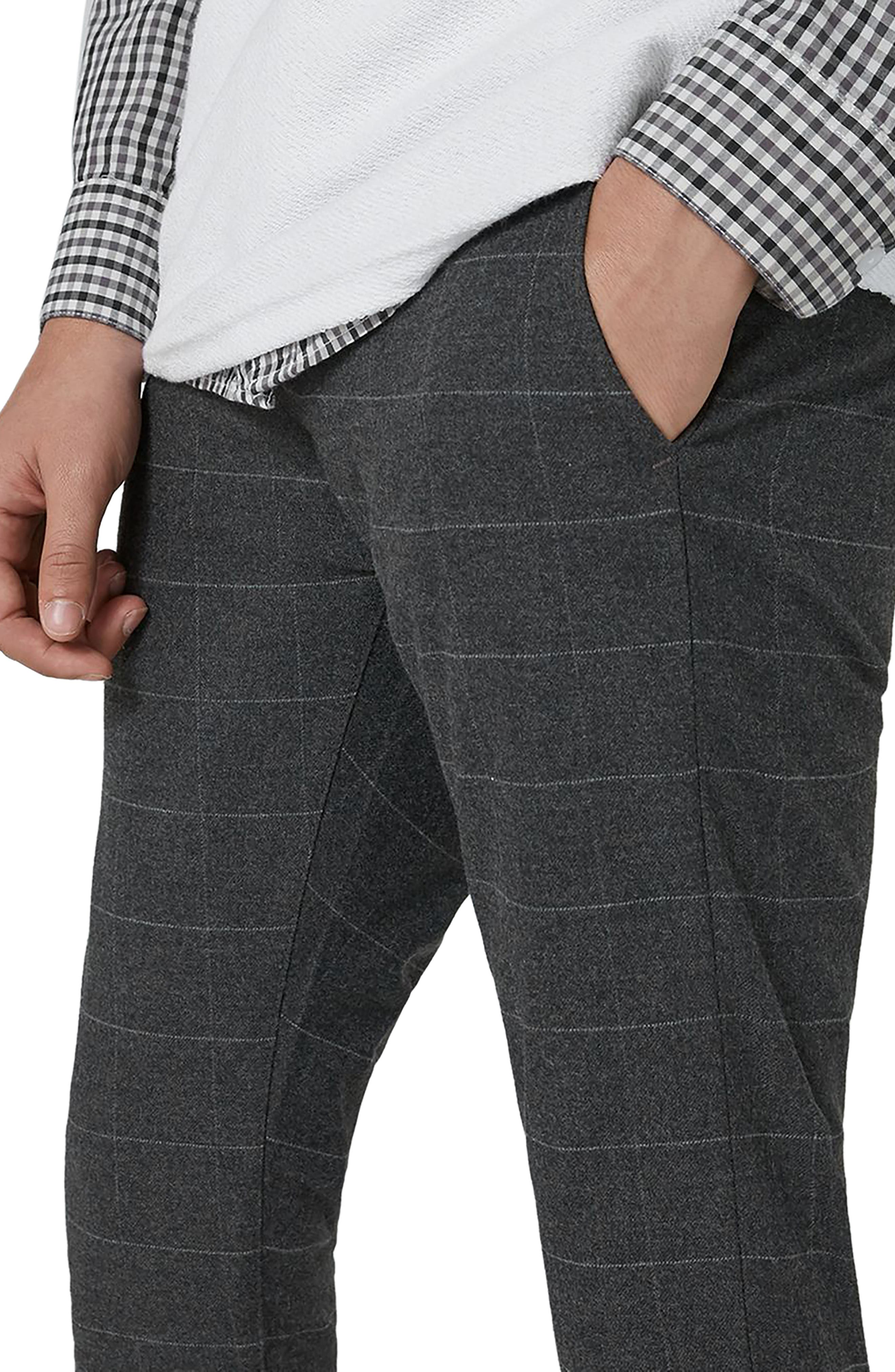 Alternate Image 3  - Topman Check Spray-On Trousers