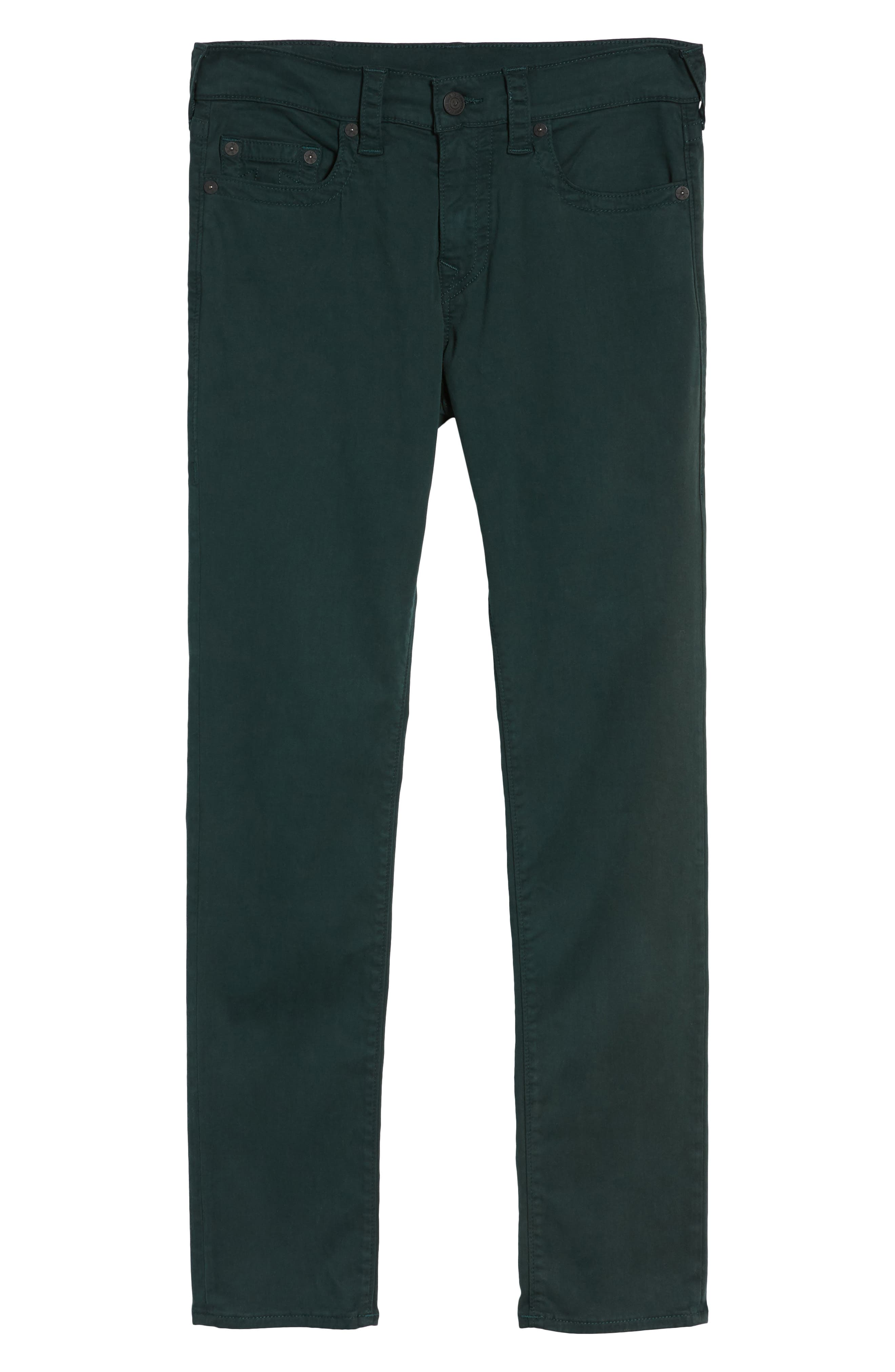 Rocco Skinny Fit Jeans,                             Alternate thumbnail 6, color,                             Hunter Green