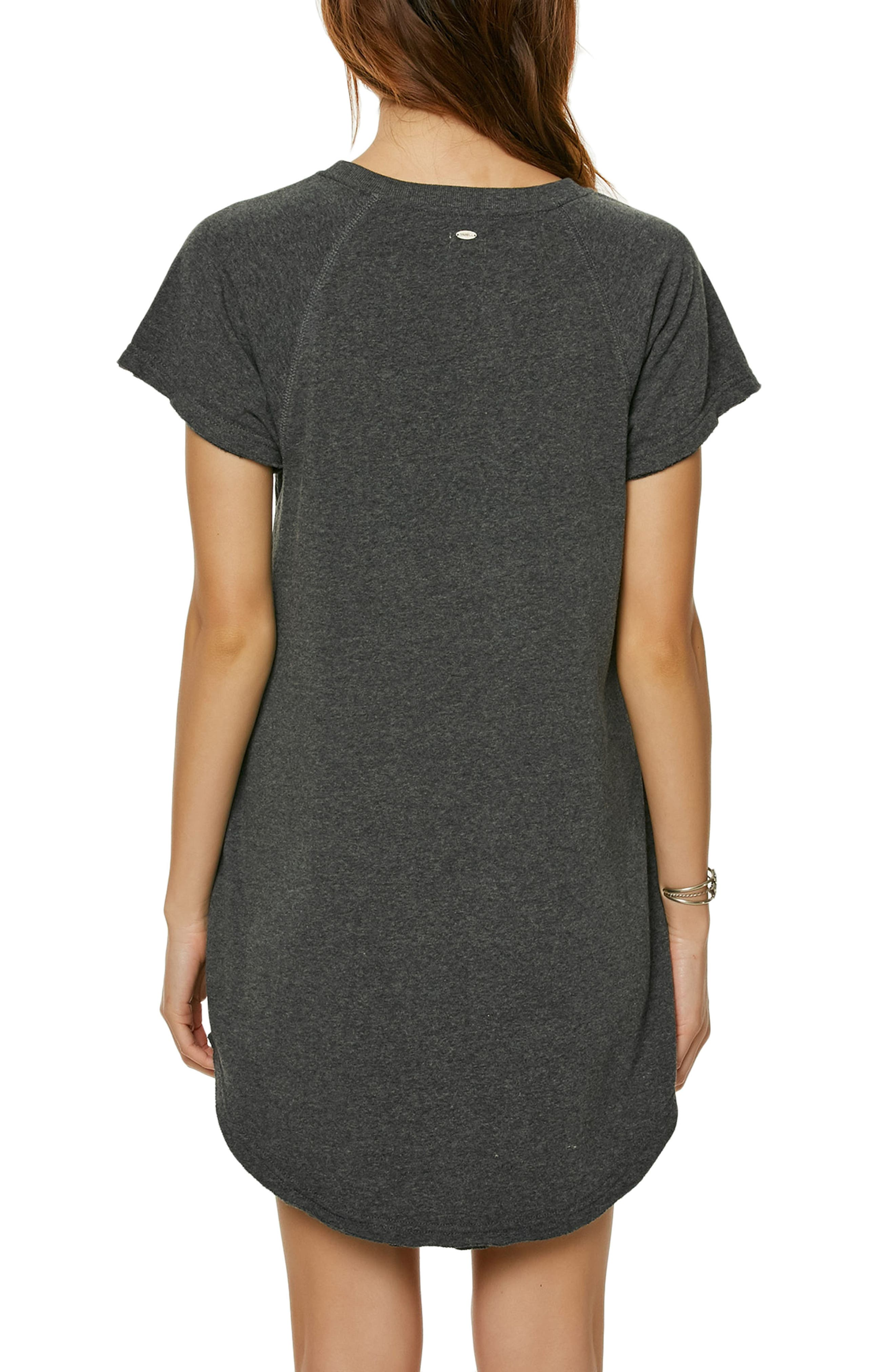 Morganne T-Shirt Dress,                             Alternate thumbnail 2, color,                             Heather Black