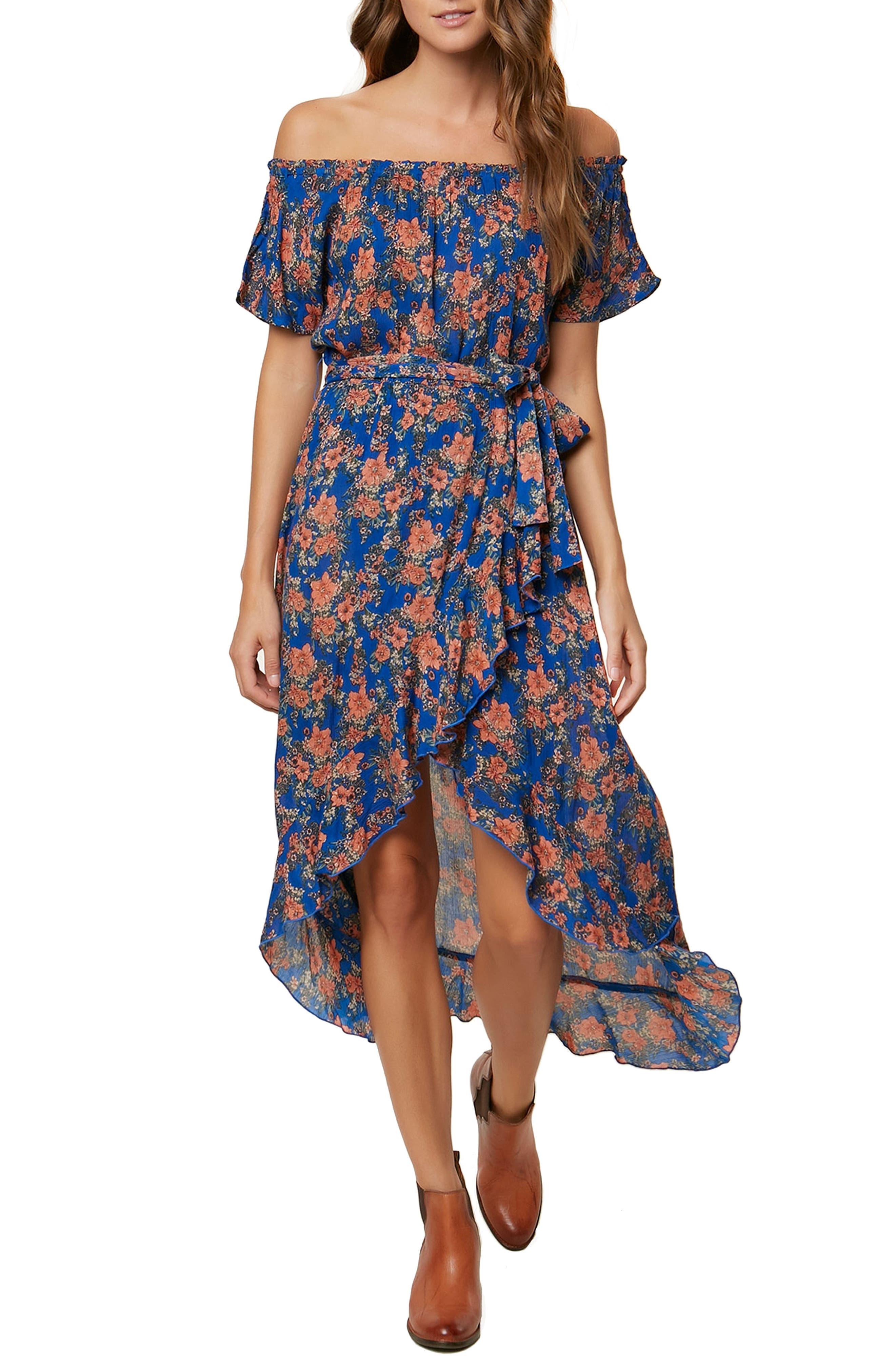 Constance Woven Wrap Maxi Dress,                         Main,                         color, Monoco Blue