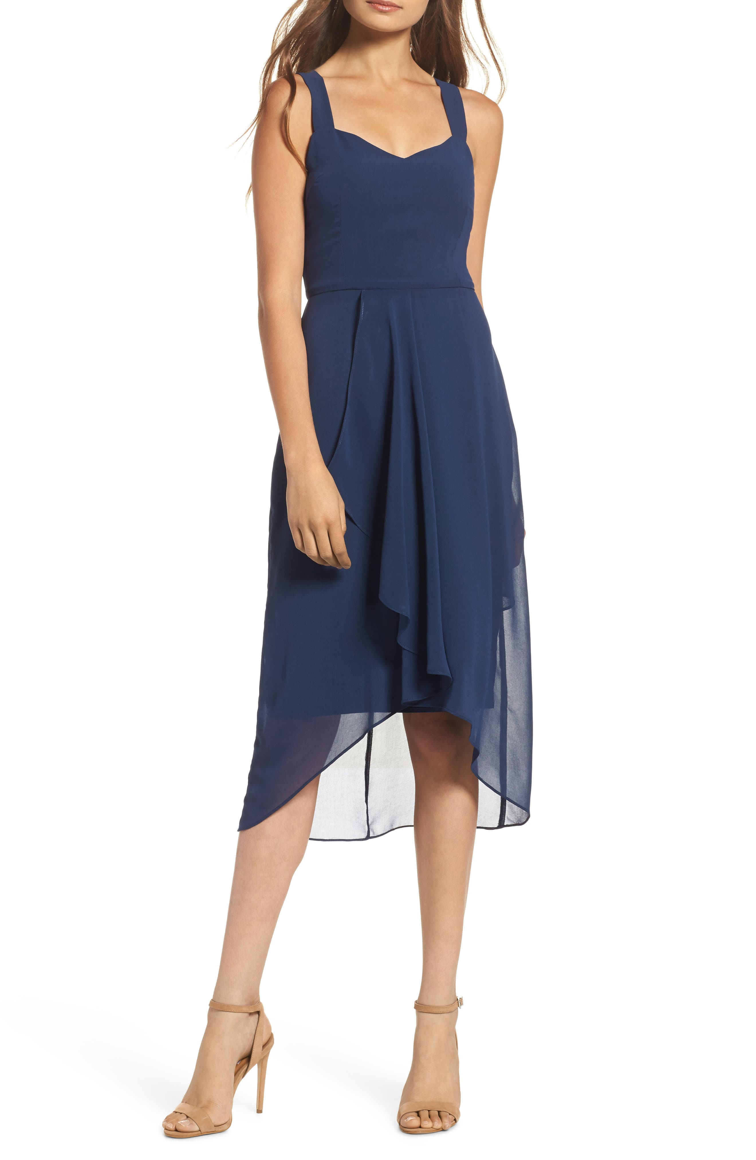 Utopia Midi Dress,                         Main,                         color, Ink