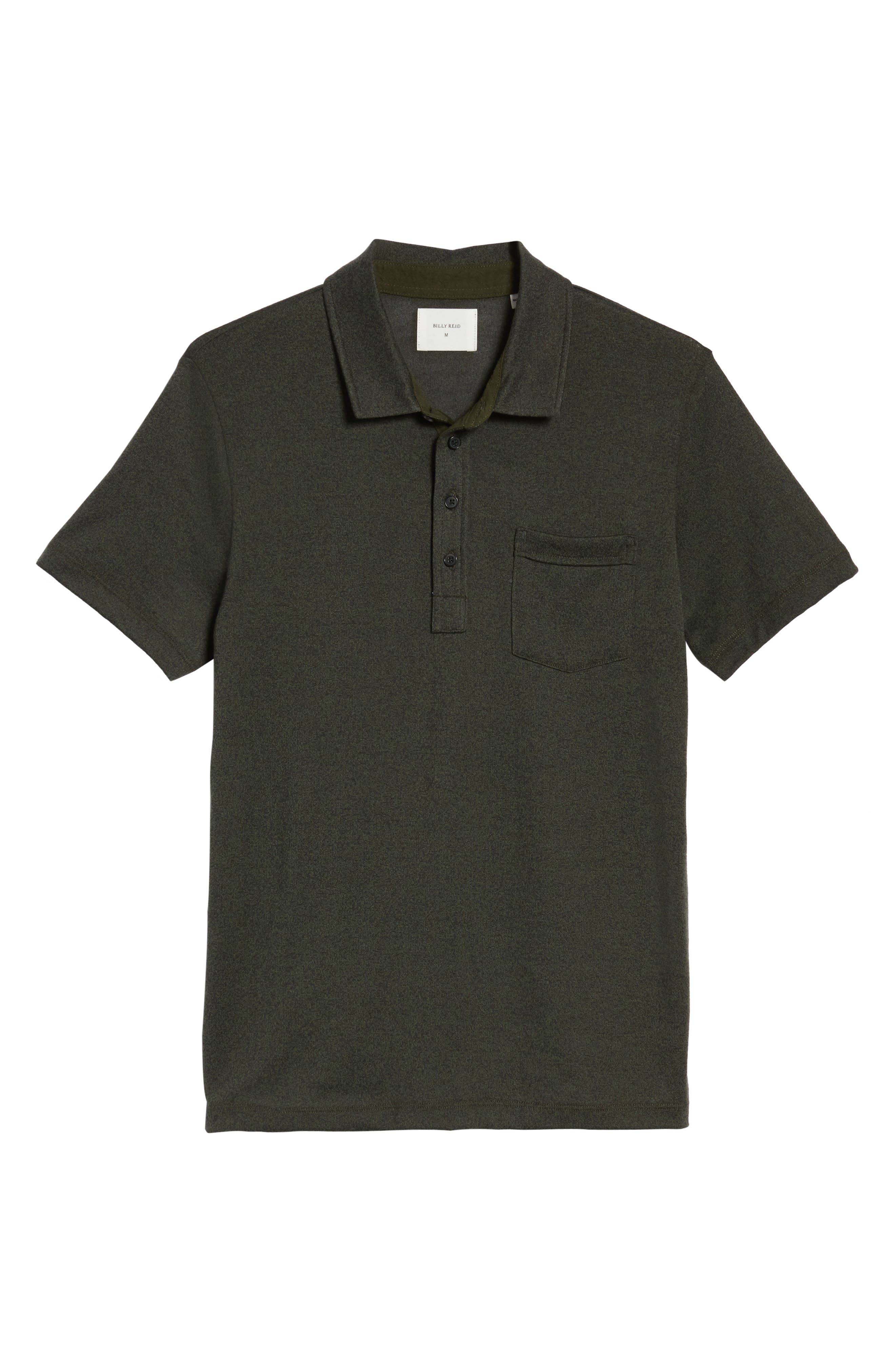Smith Slim Fit Polo,                             Alternate thumbnail 6, color,                             Pine Green