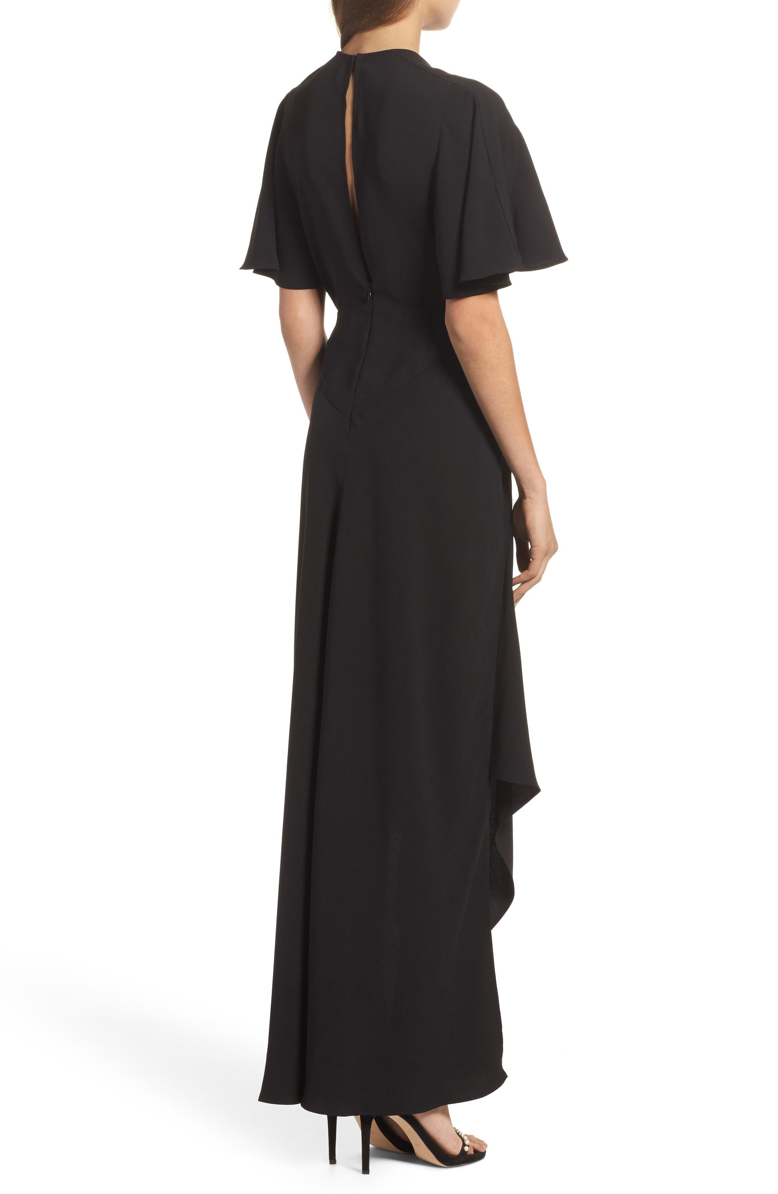 Kerry Maxi Dress,                             Alternate thumbnail 2, color,                             Black