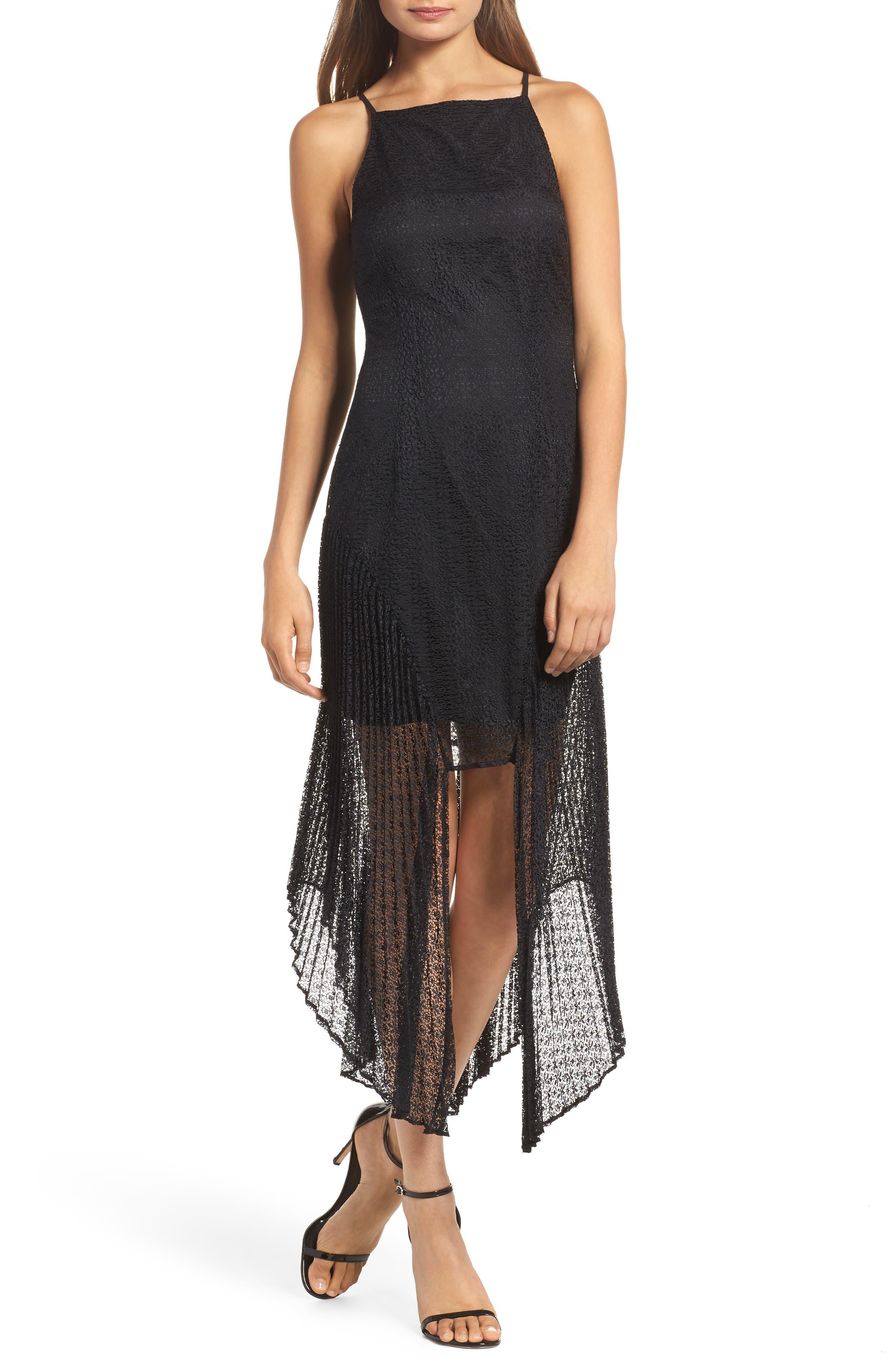 Ignite Lace Midi Dress,                         Main,                         color, Black