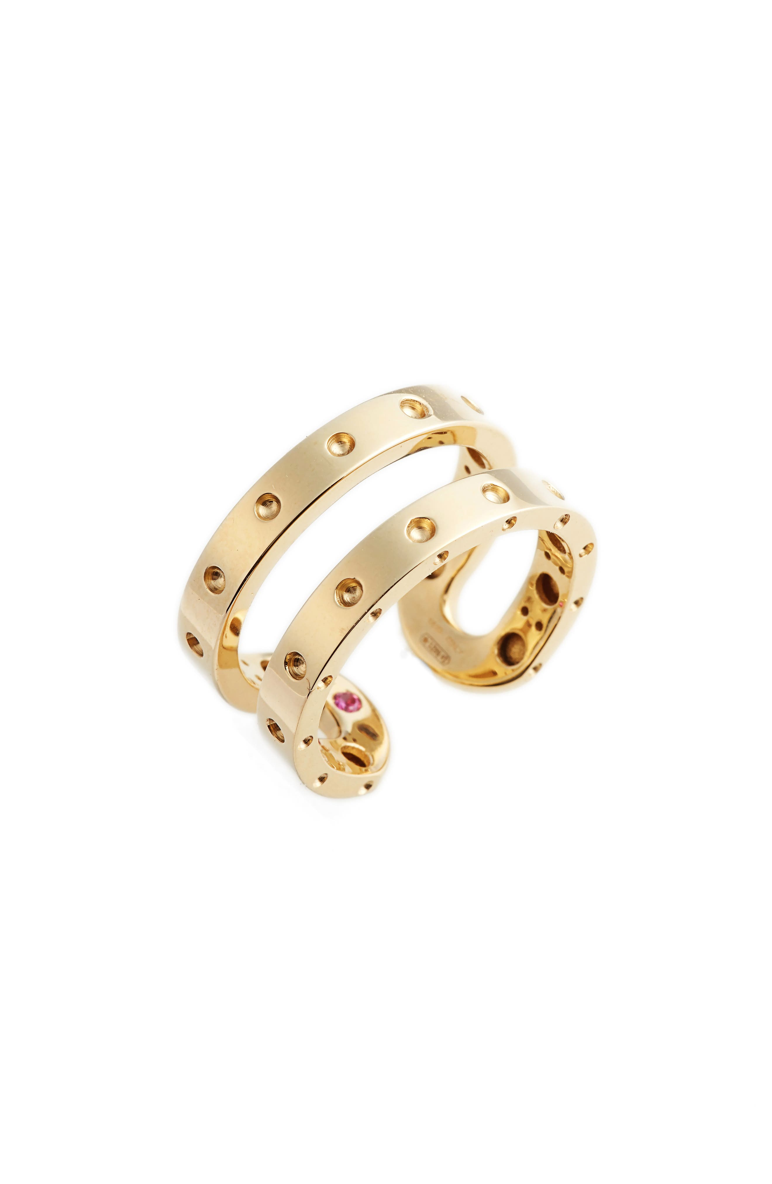 Symphony Double Pois Moi Ring,                             Main thumbnail 1, color,                             Yellow Gold