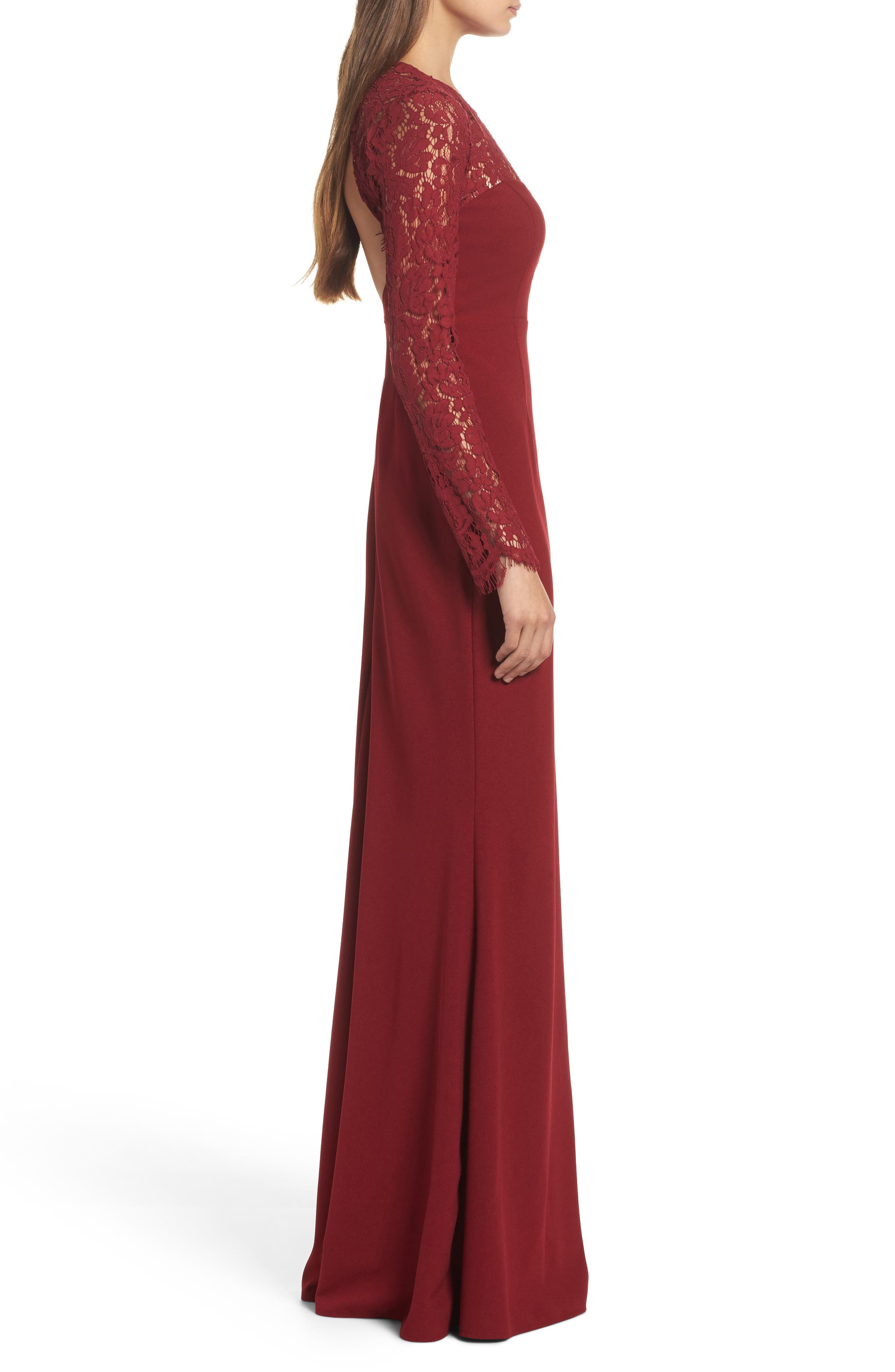Whenever You Call Maxi Dress,                             Alternate thumbnail 3, color,                             Wine