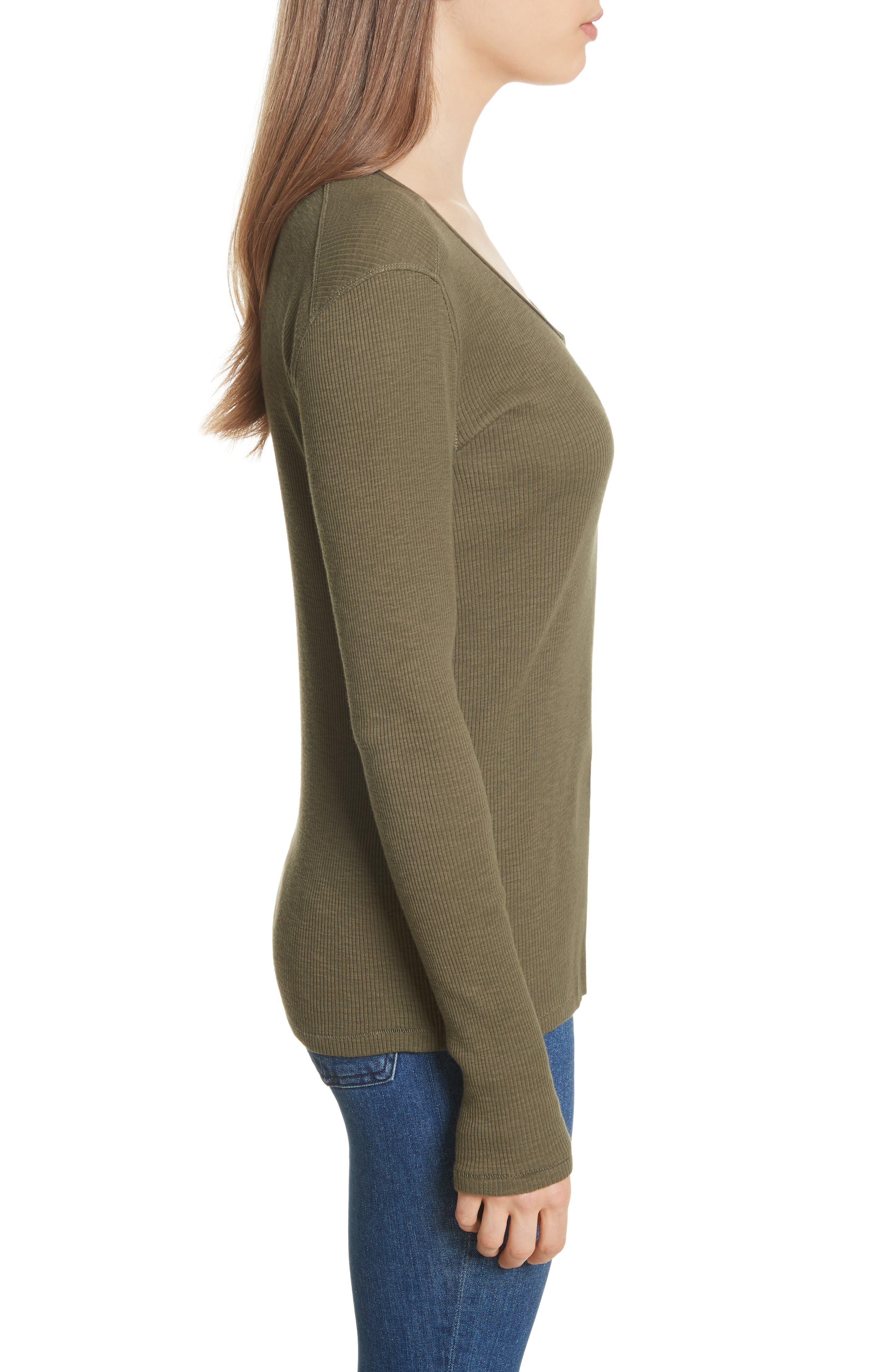 Lilies Henley,                             Alternate thumbnail 3, color,                             Dark Olive