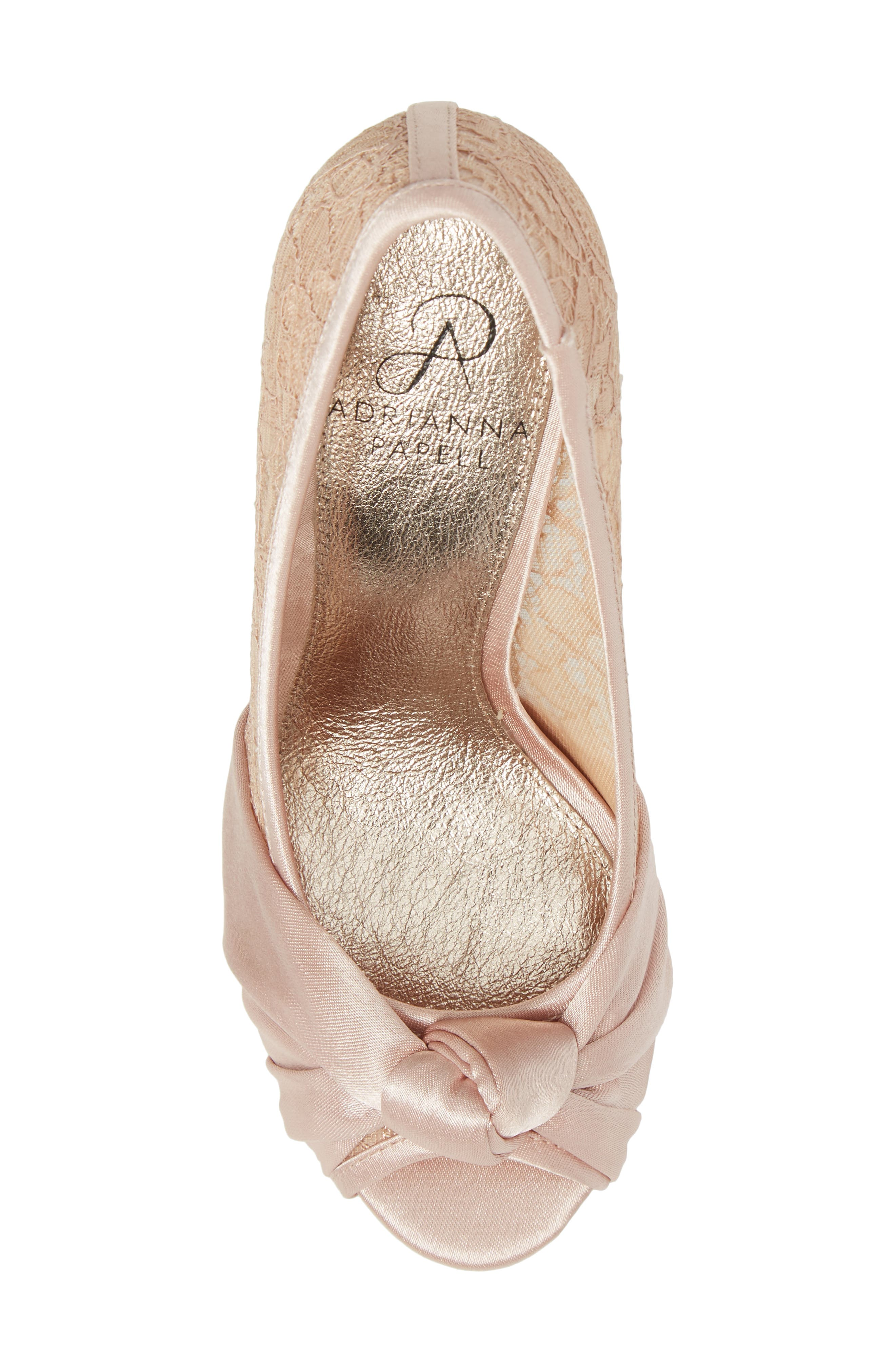 Alternate Image 5  - Adrianna Papell Francesca Knotted Peep Toe Pump (Women)