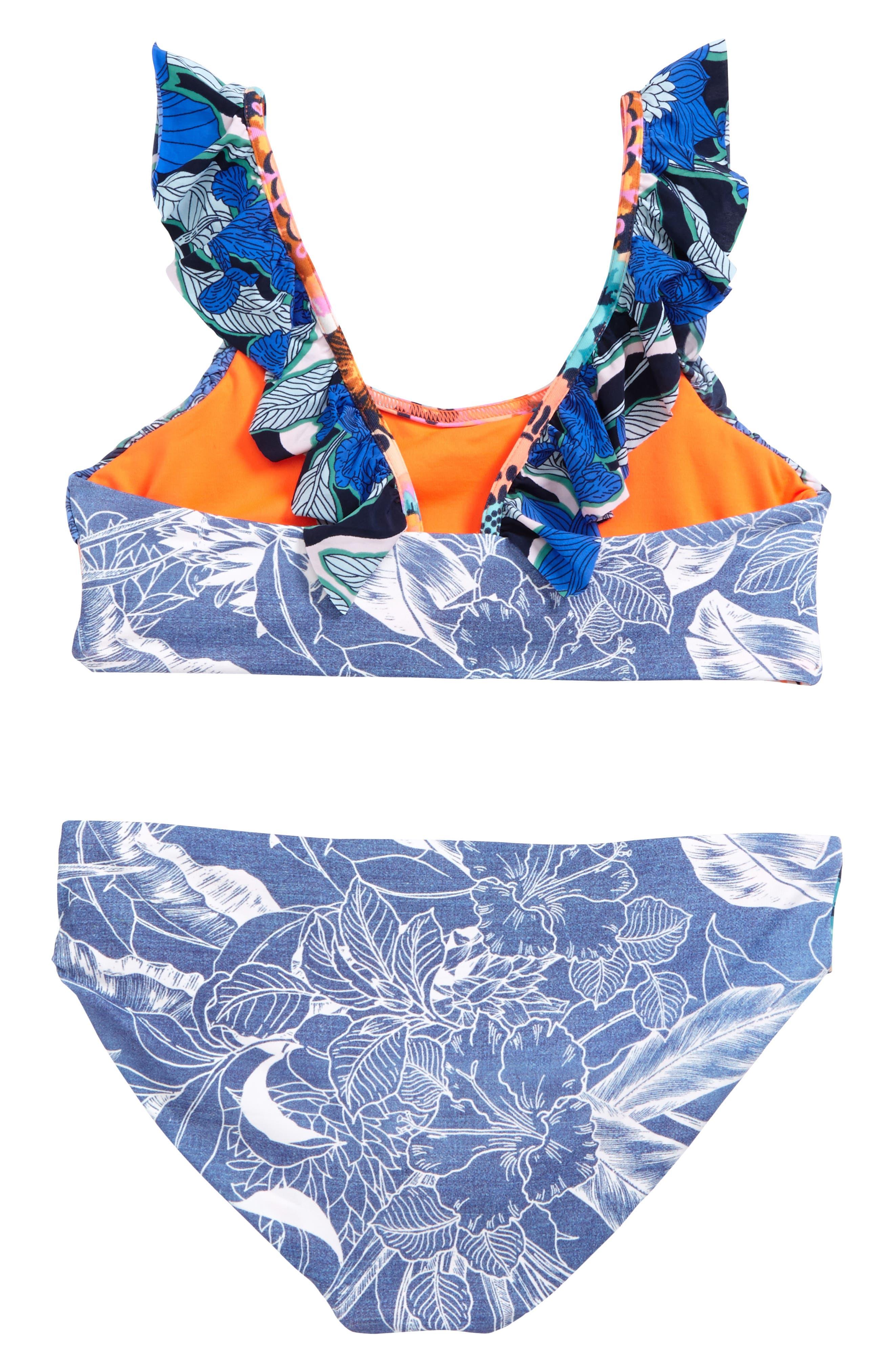 Seaside Palenque Two-Piece Swimsuit,                             Alternate thumbnail 2, color,                             Blue