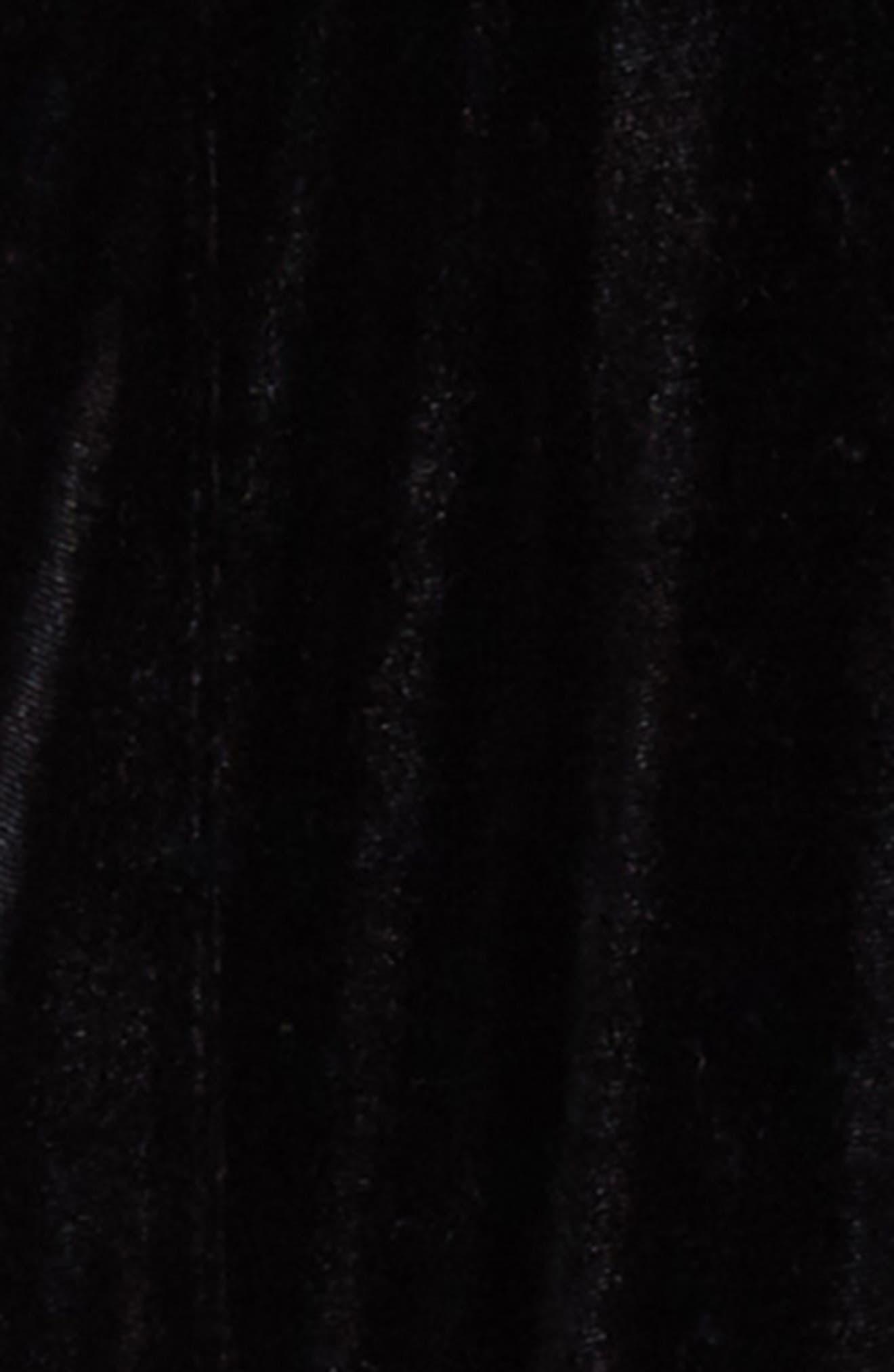 Velvet Stirrup Pants,                             Alternate thumbnail 2, color,                             Black