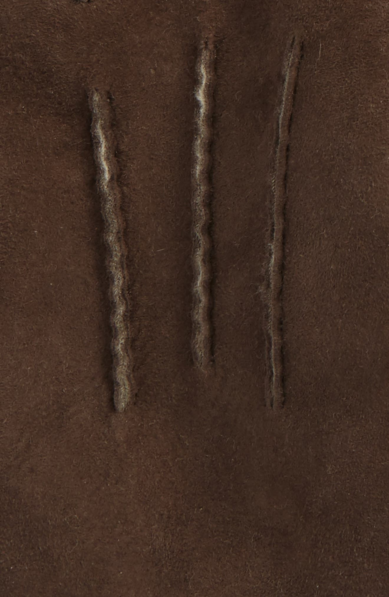 UGG Smart Sheepskin Shearling Leather Gloves,                             Alternate thumbnail 2, color,                             Slate Curly