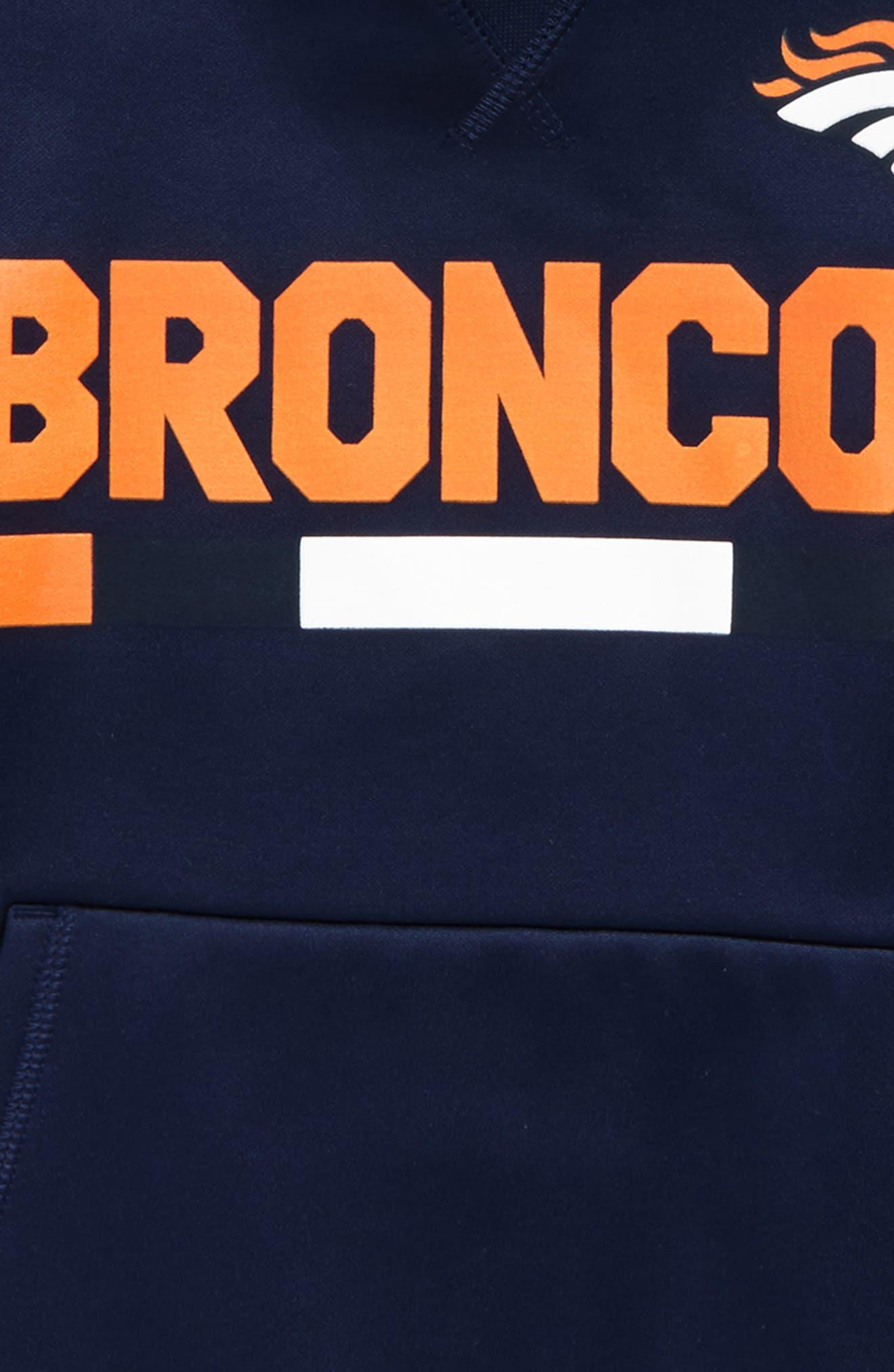 Nike Therma Denver Broncos Hoodie,                             Alternate thumbnail 2, color,                             College Navy