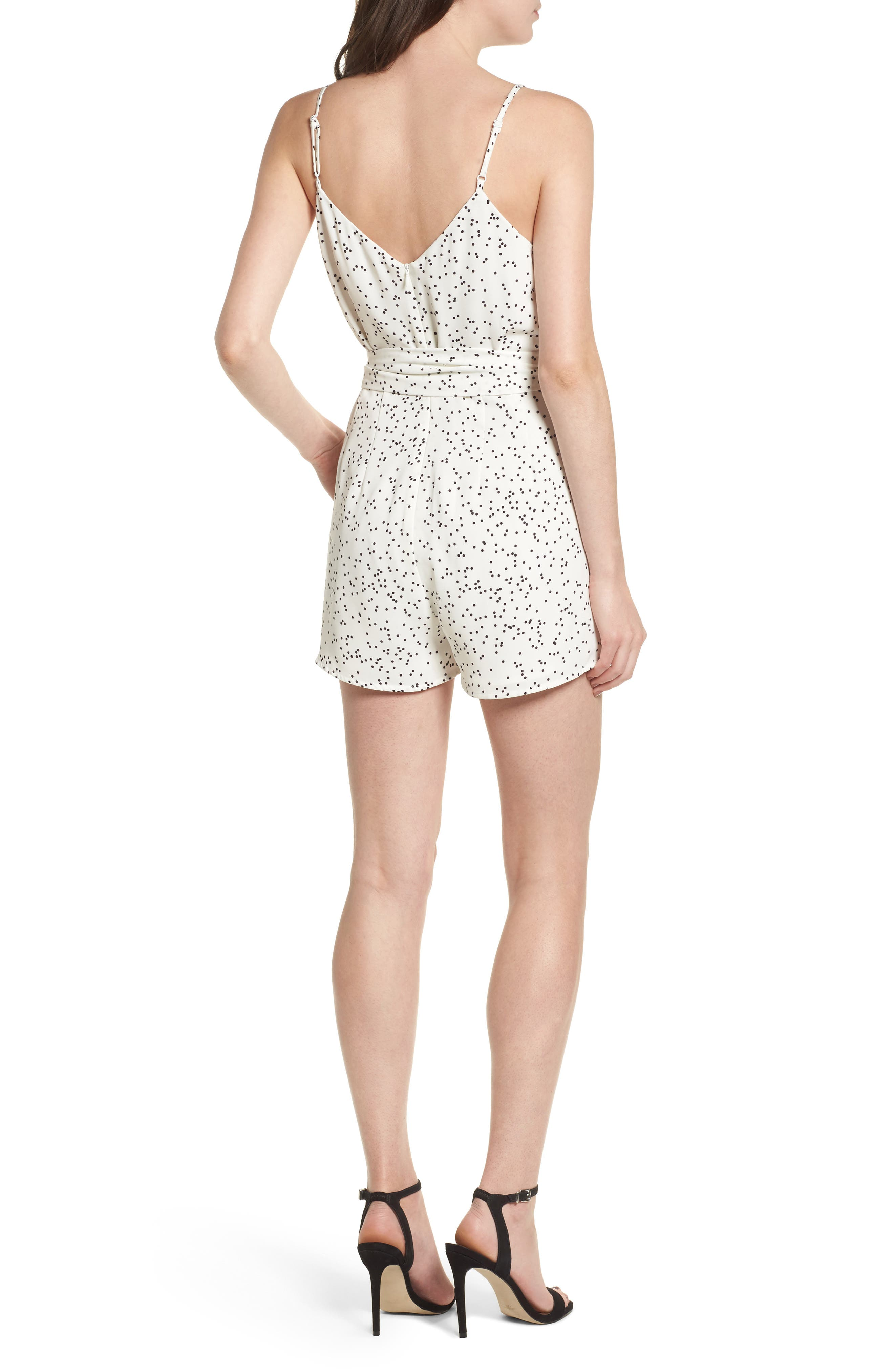 Embrace Me Romper,                             Alternate thumbnail 2, color,                             White W Black Spot