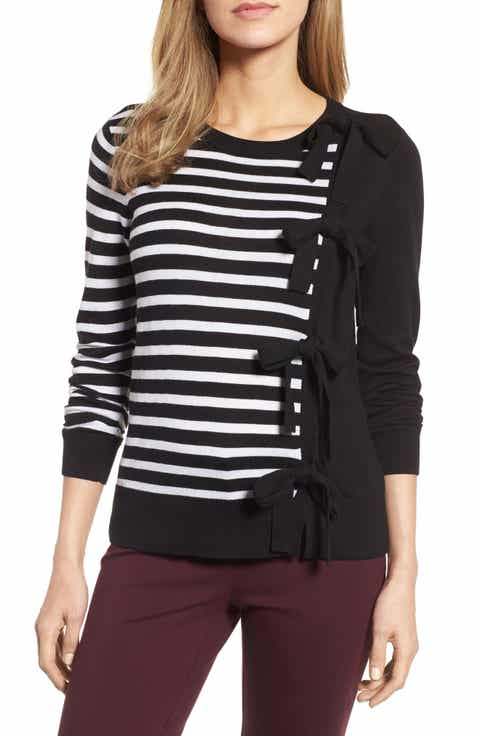 Halogen® Bow Front Sweater
