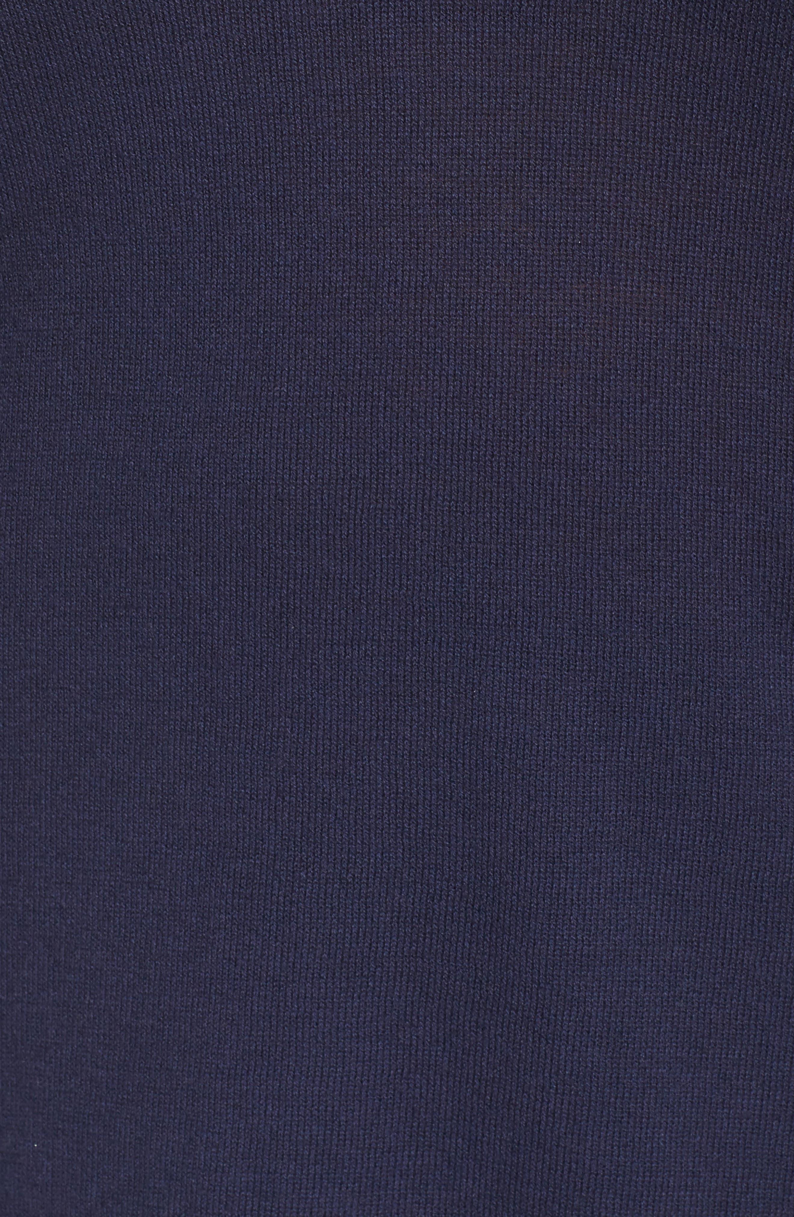 Mix Media Sweater,                             Alternate thumbnail 5, color,                             Navy- White Combo