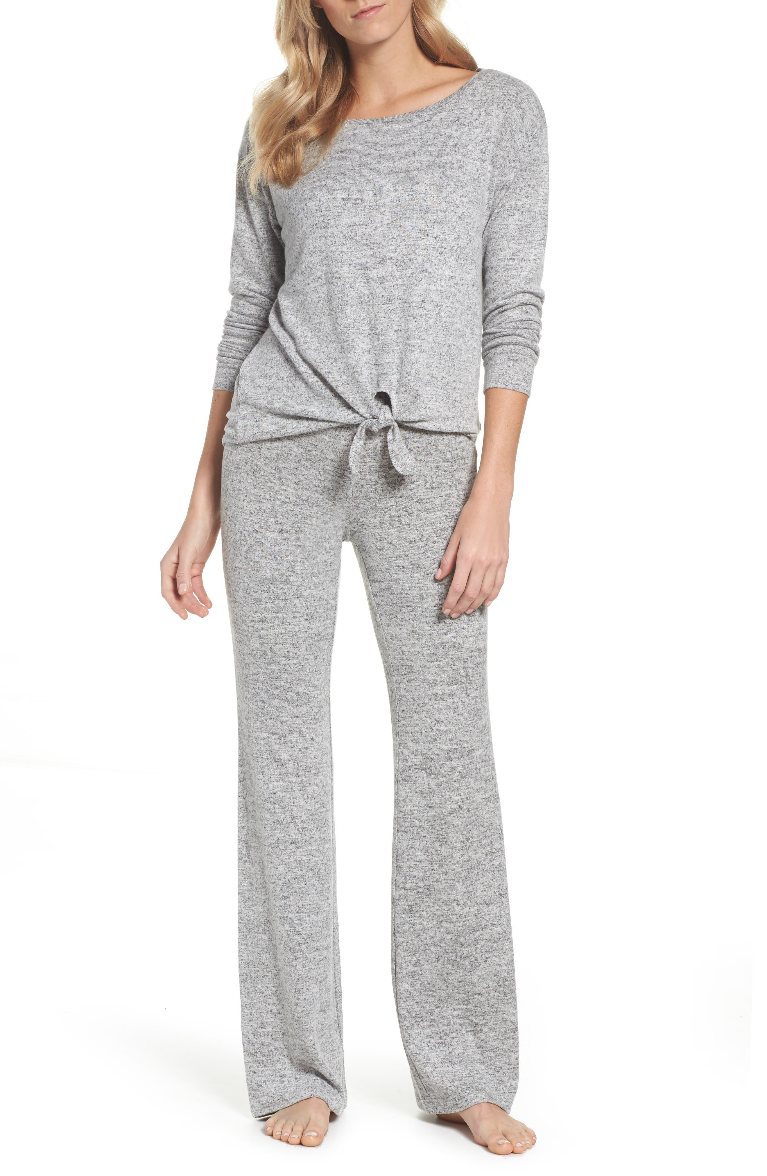 Alternate Image 5  - BB Dakota Wendall Wide Leg Lounge Pants