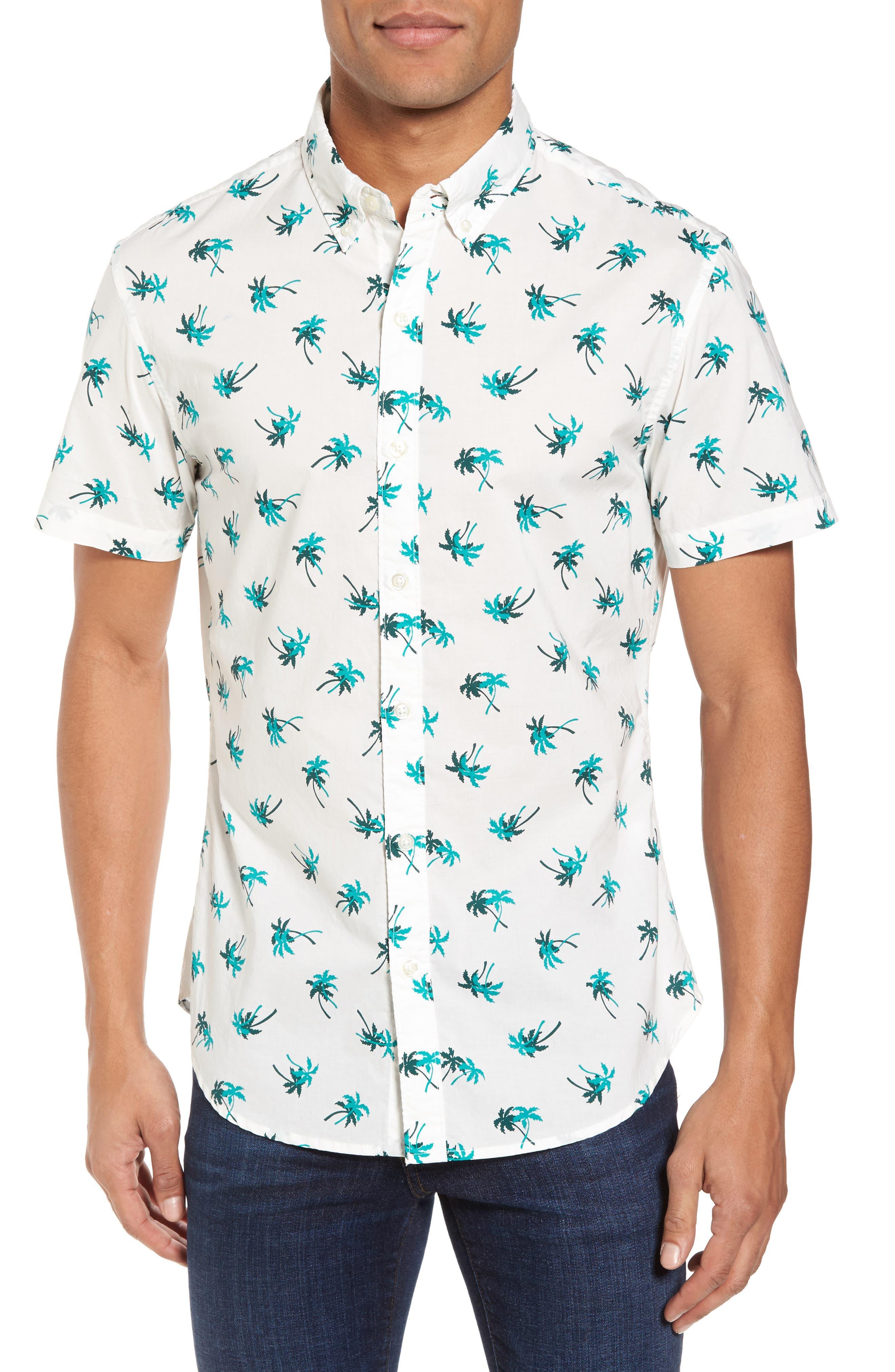 Bonobos Slim Fit Palm Tree Print Sport Shirt