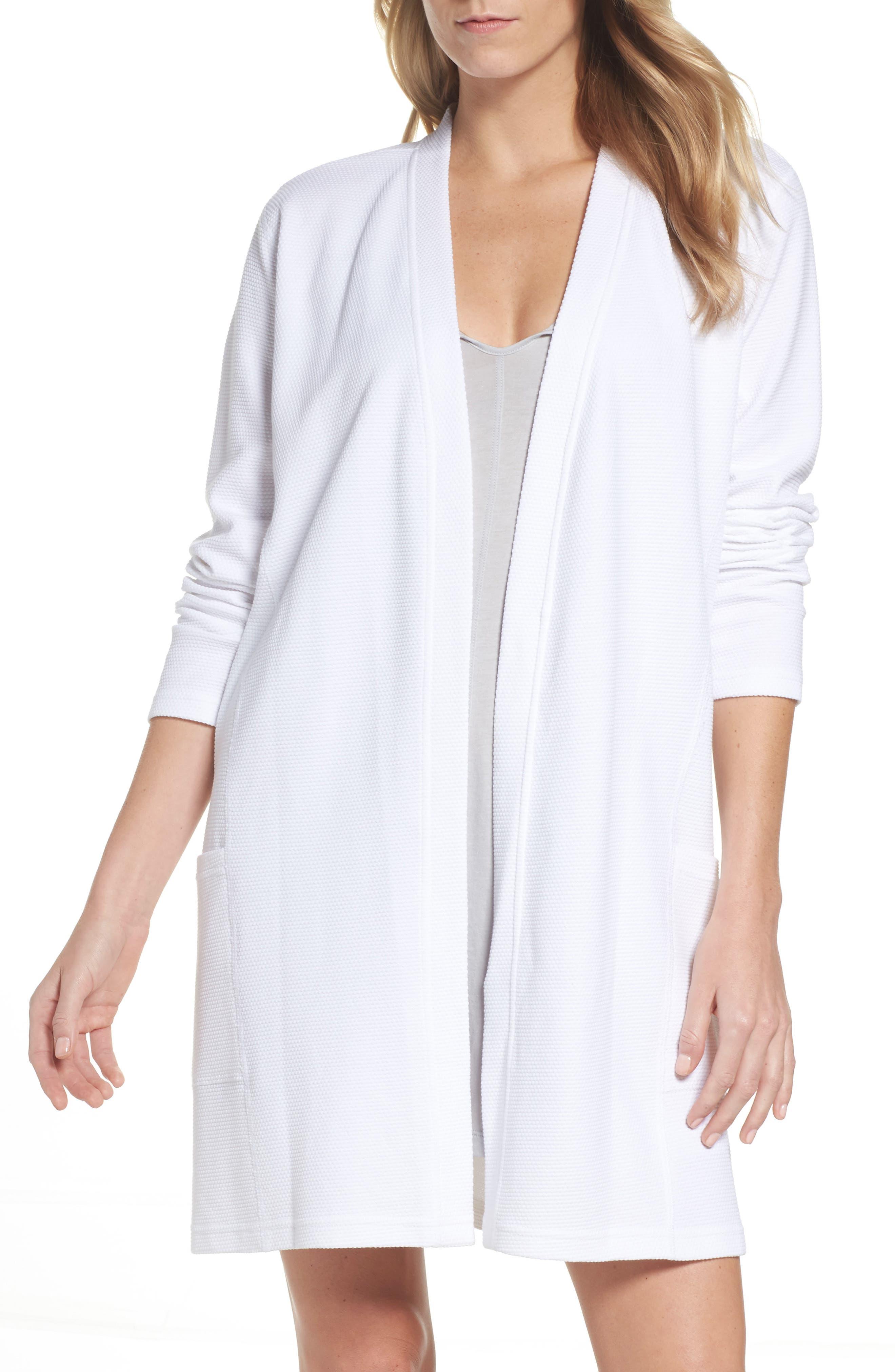 Short Robe,                         Main,                         color, White