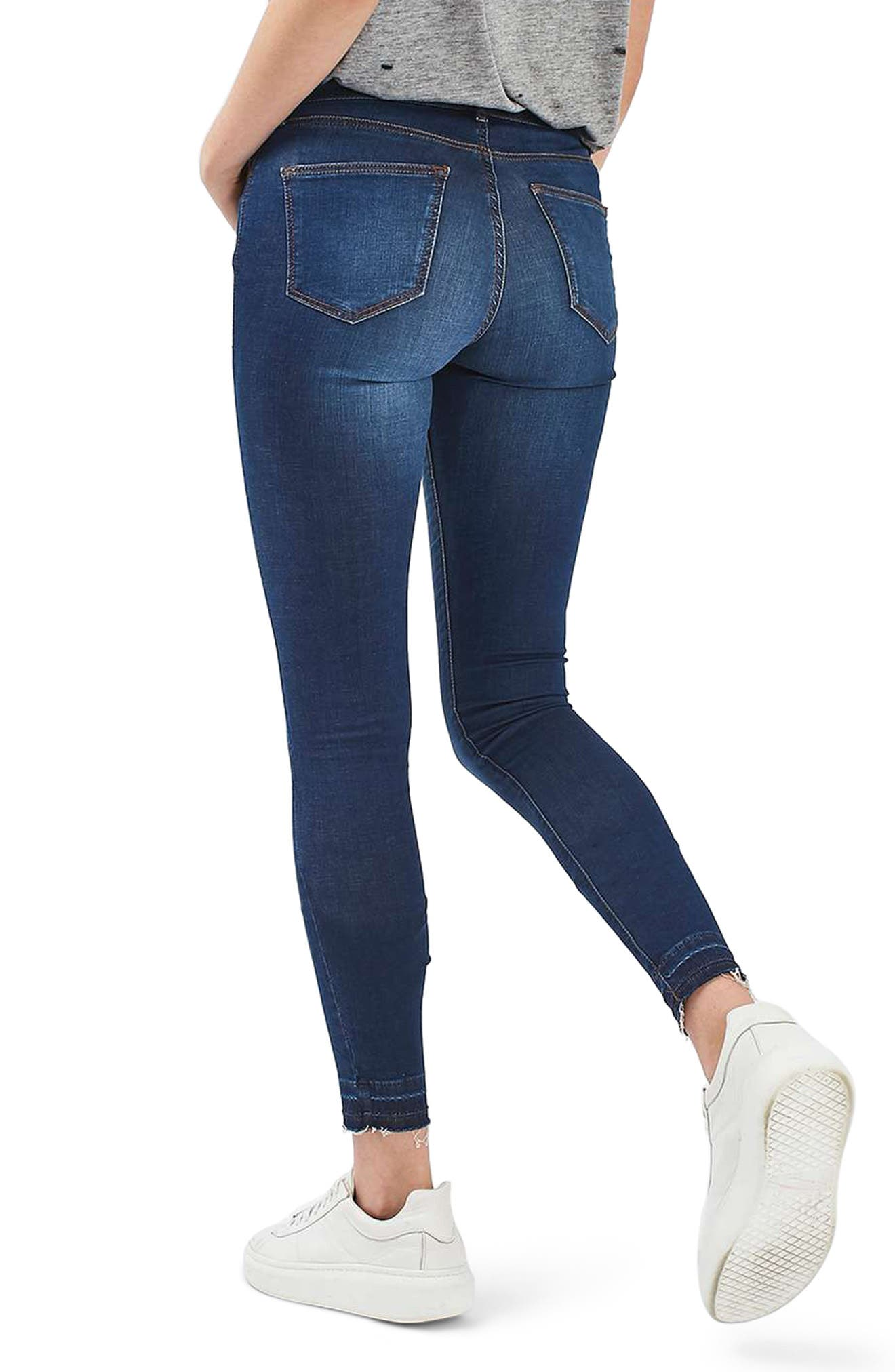 Leigh Release Hem Skinny Jeans,                             Alternate thumbnail 2, color,                             Indigo