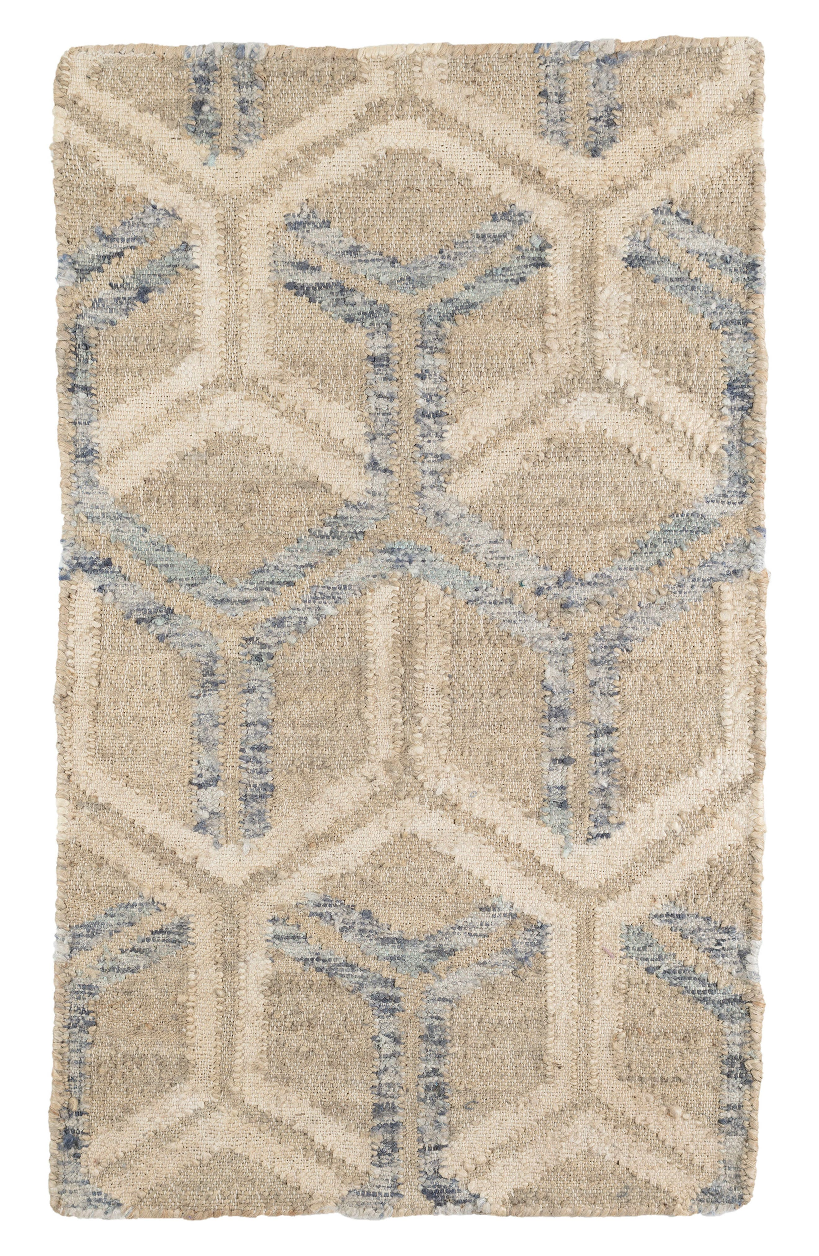 Tala Woven Jute & Cotton Rug,                         Main,                         color, Blue