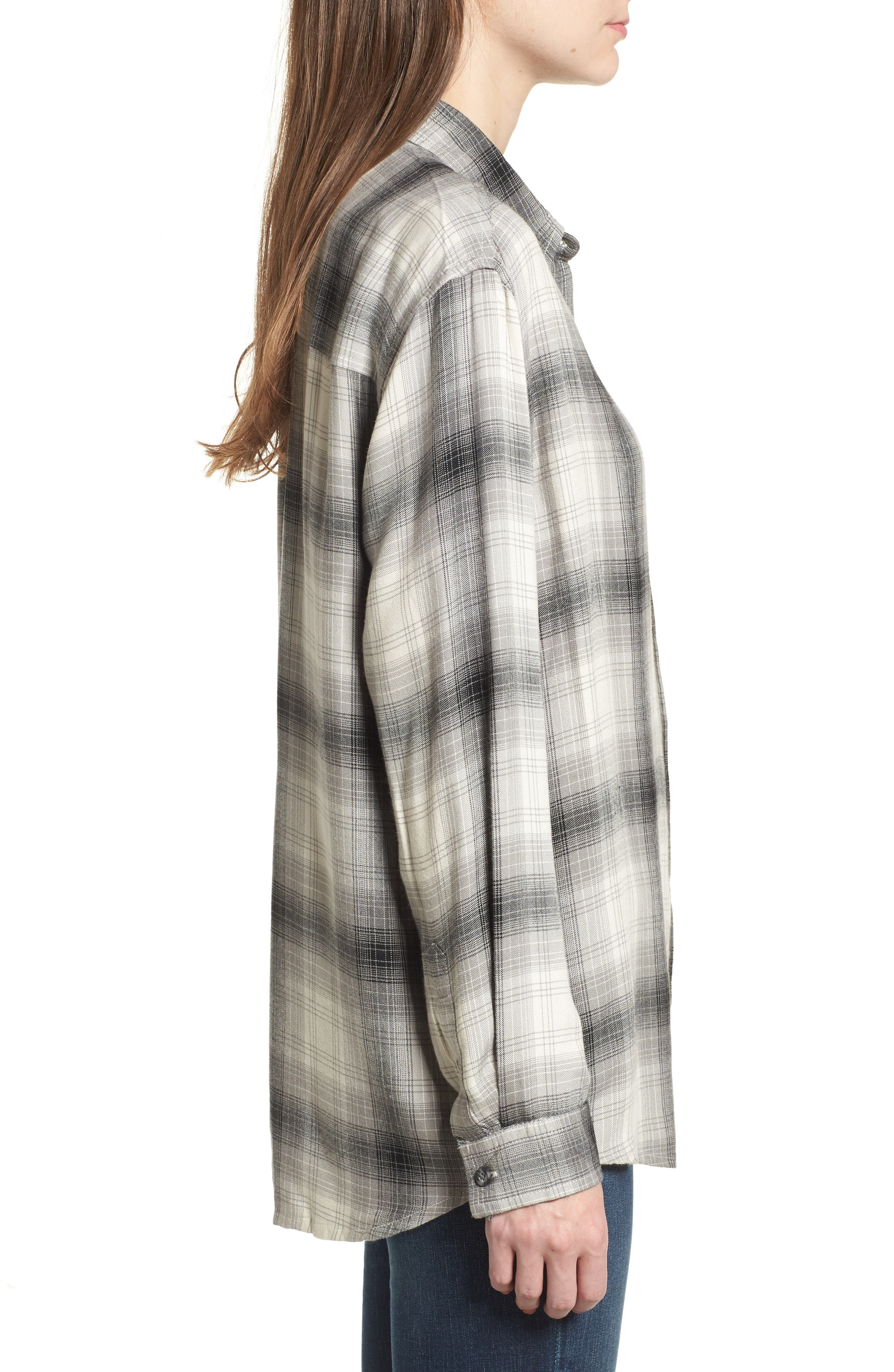 Alternate Image 3  - Obey Sky Plaid Shirt