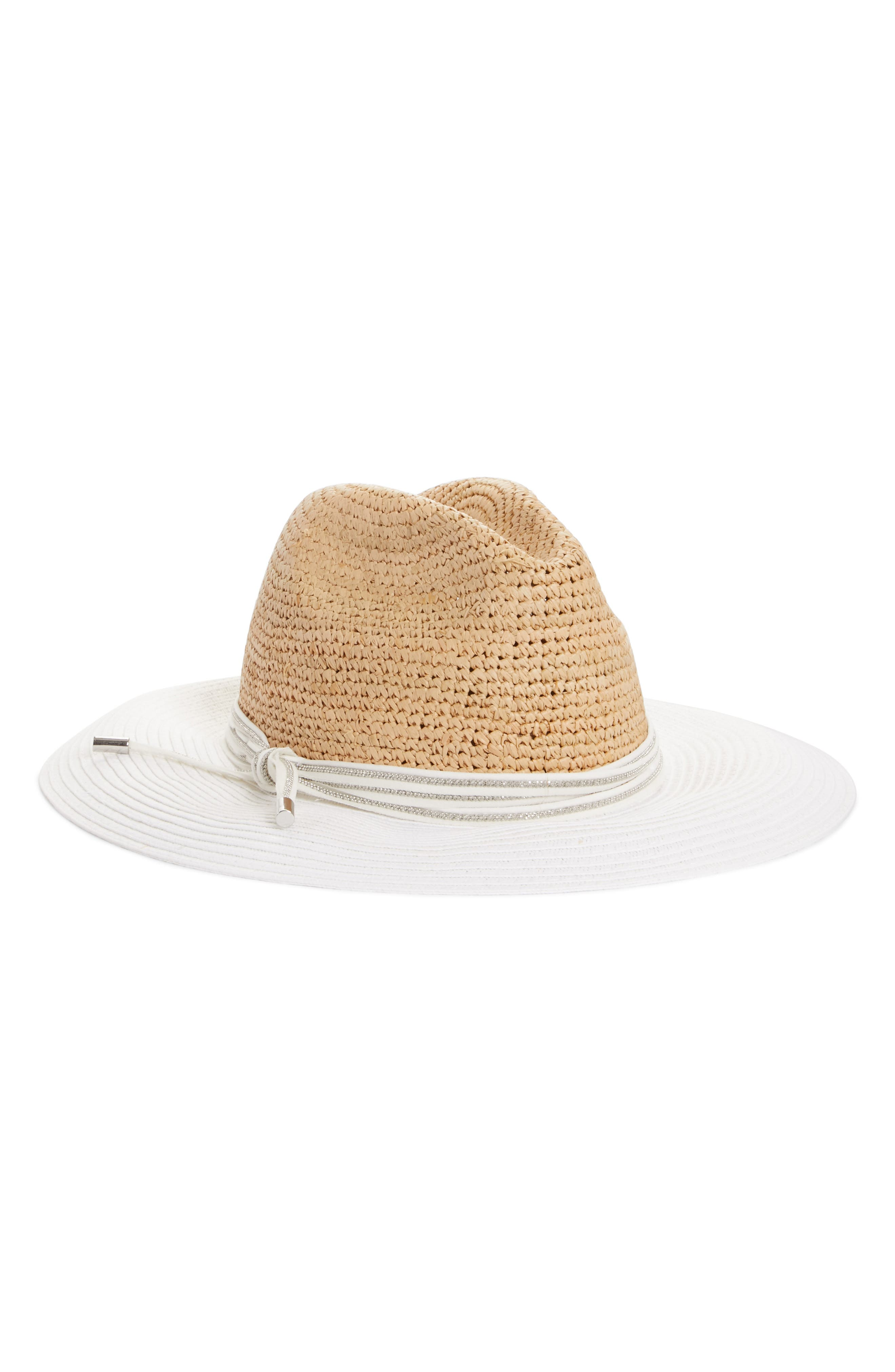 Fabiana Filippi Beaded Detail Raffia Hat