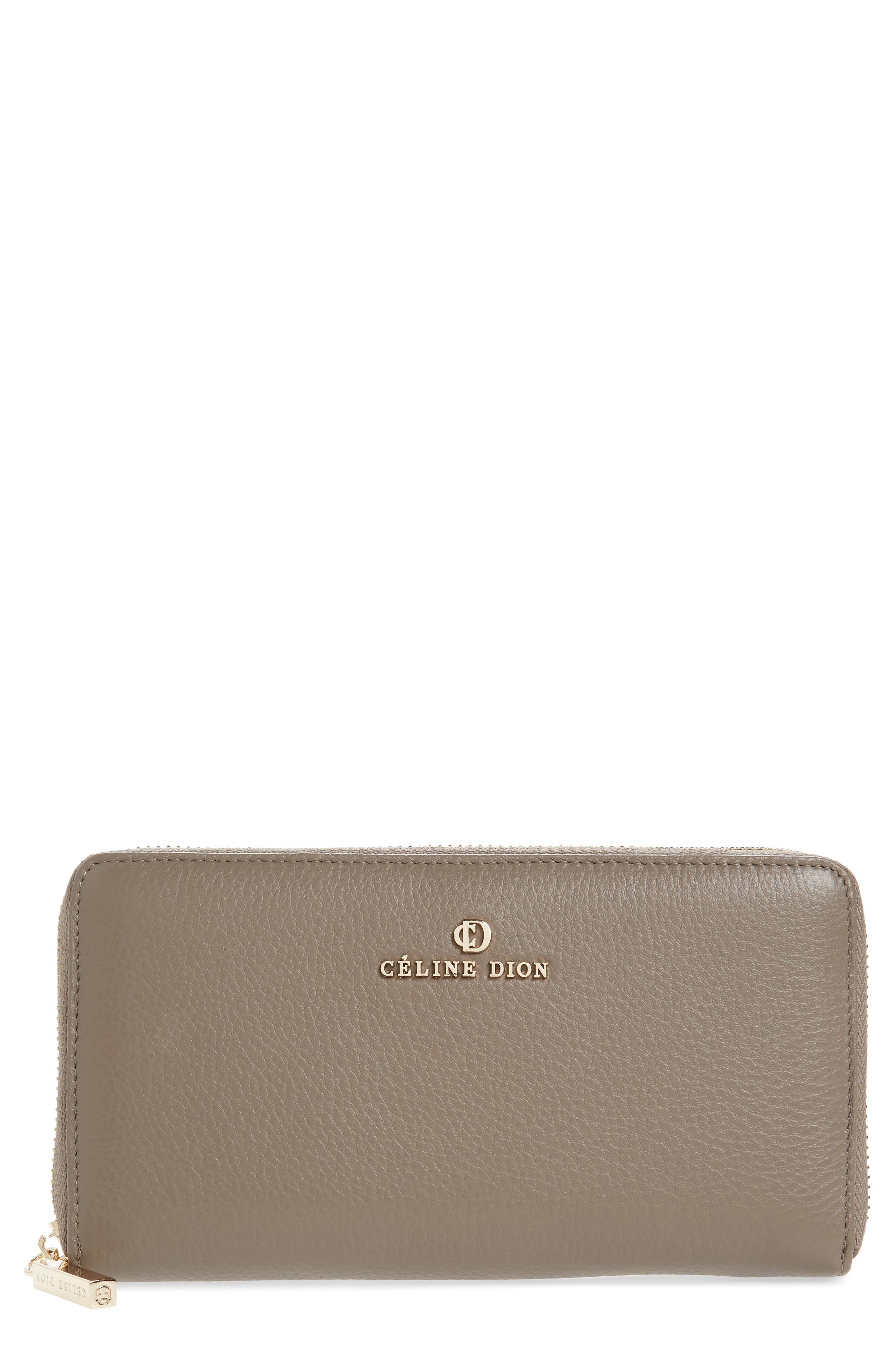 Céline Dion Adagio Leather Wallet,                         Main,                         color, Taupe