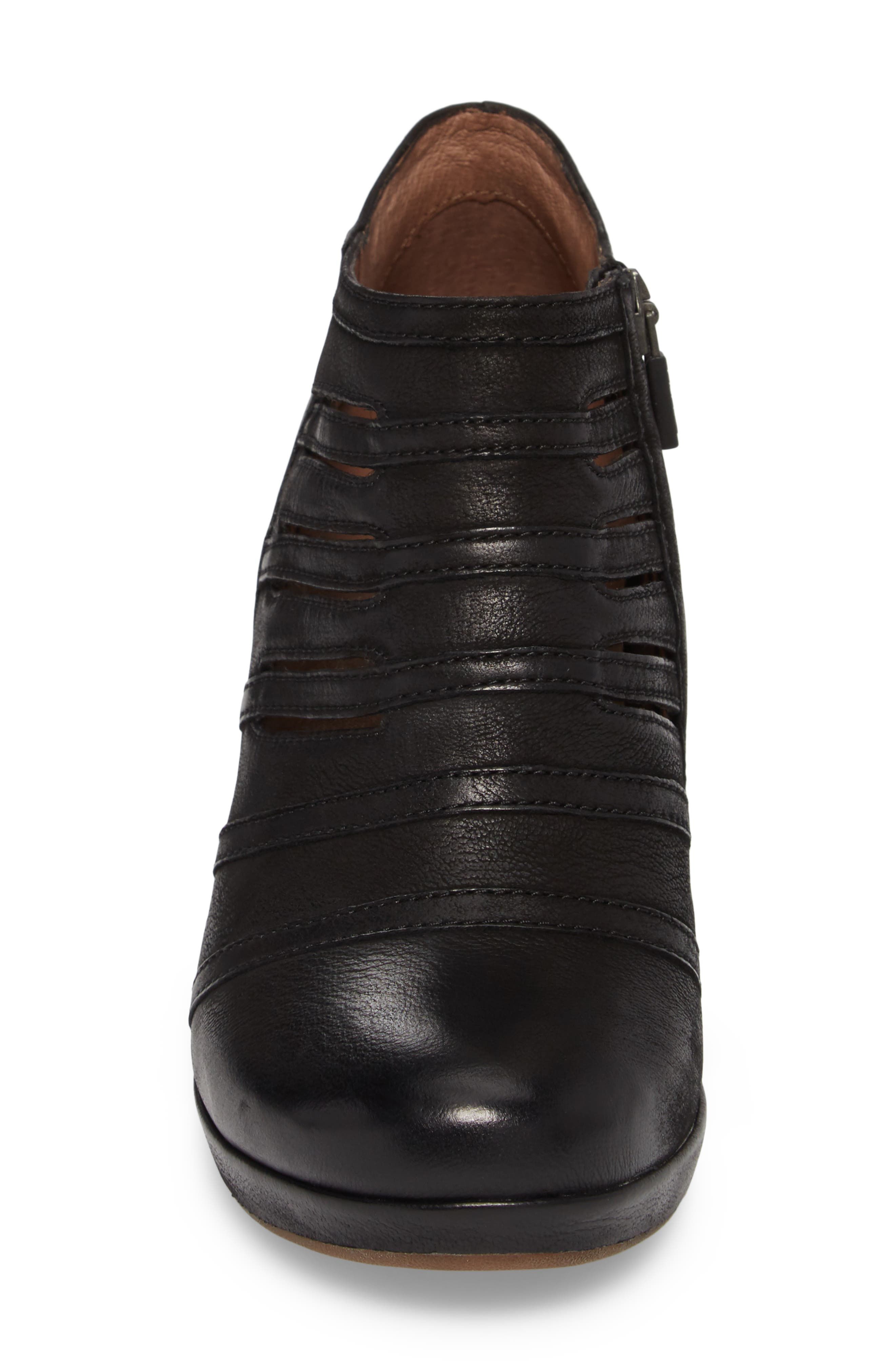 Meadow Bootie,                             Alternate thumbnail 4, color,                             Meadow Black Burnished Leather