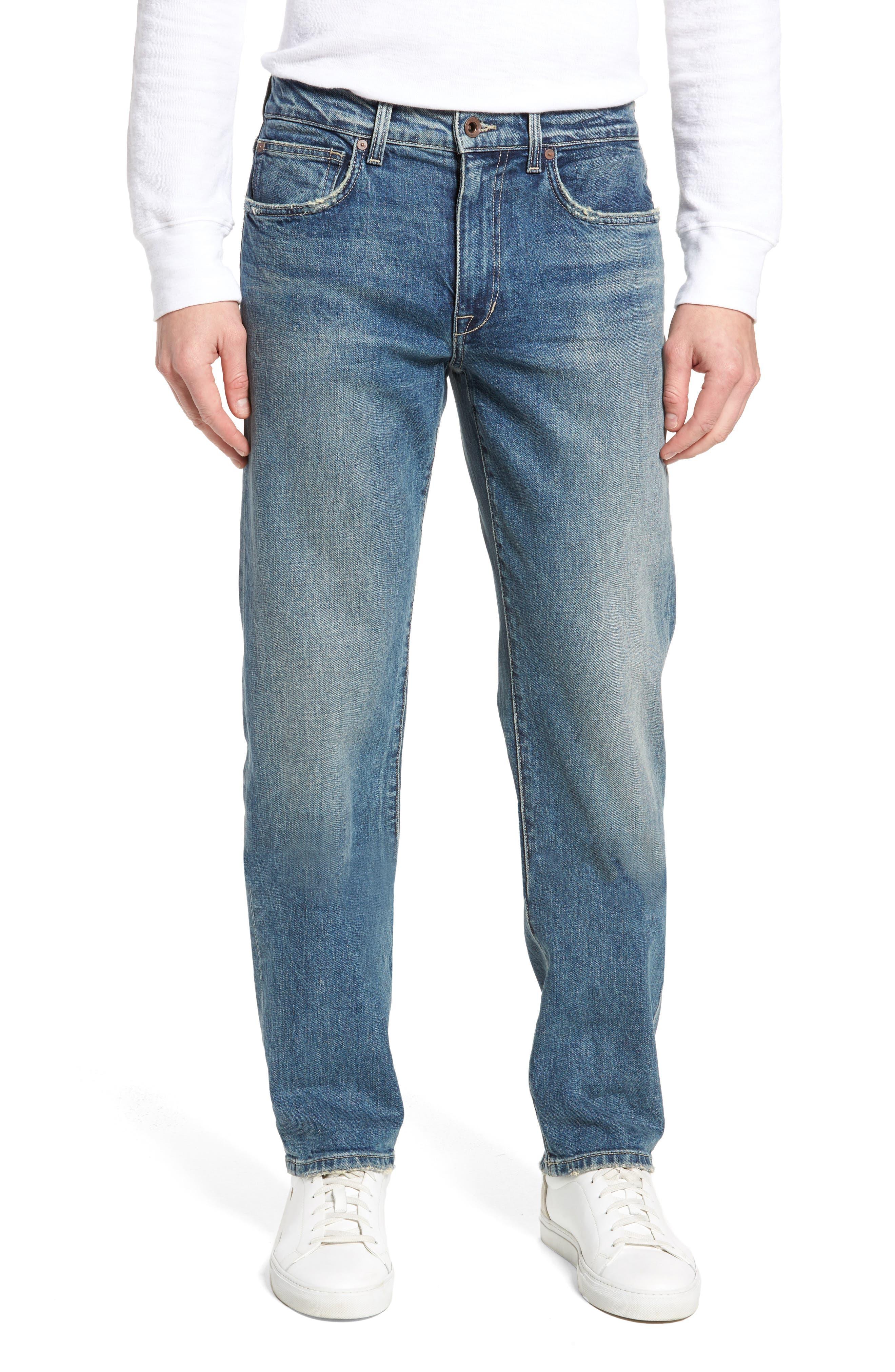 Brixton Slim Straight Fit Jeans,                             Main thumbnail 1, color,                             Harken